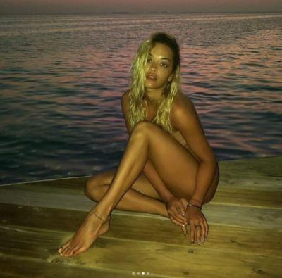 Rita Ora looks stunning in this beach shot