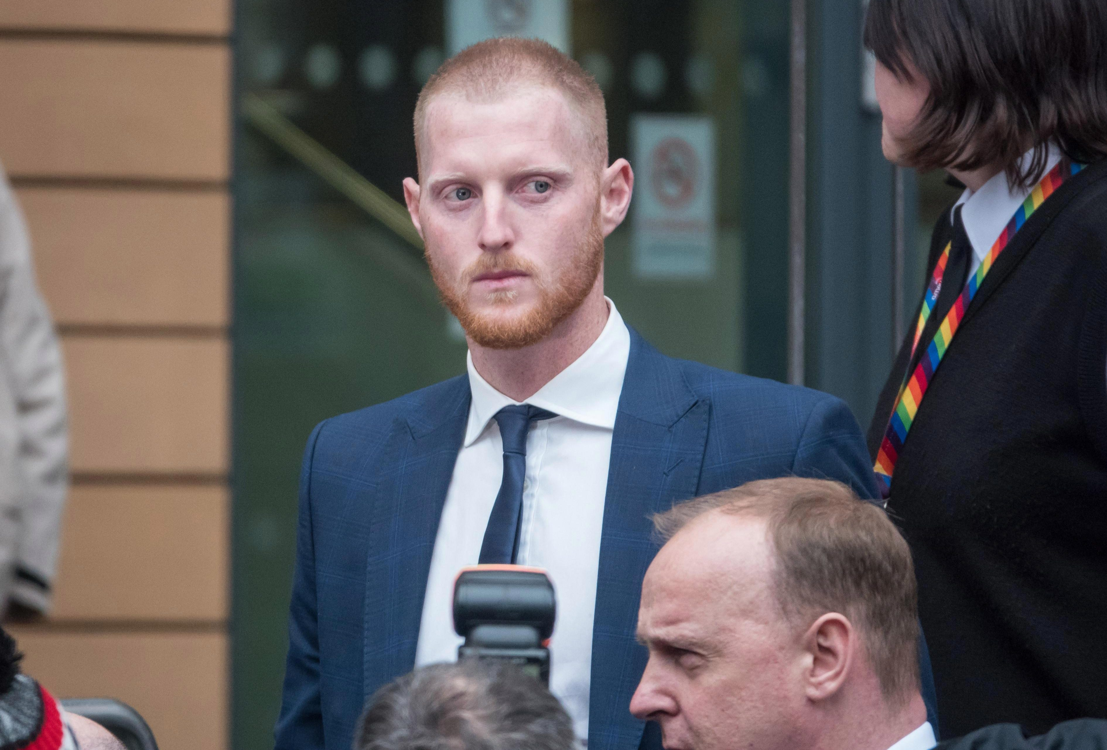 Stokes leaves court after pleading not guilty to affray