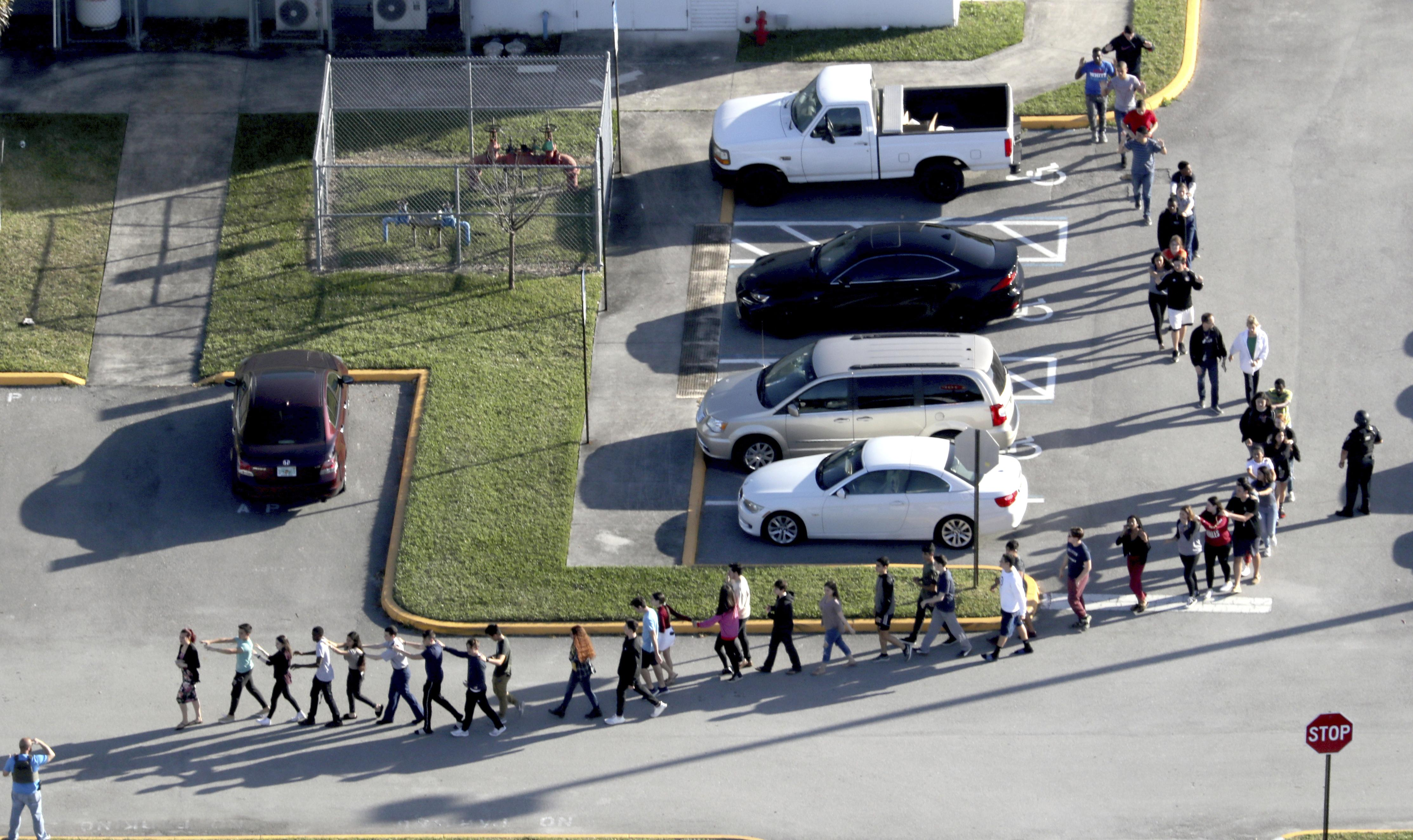 Students and teachers were evacuated from the Florida school