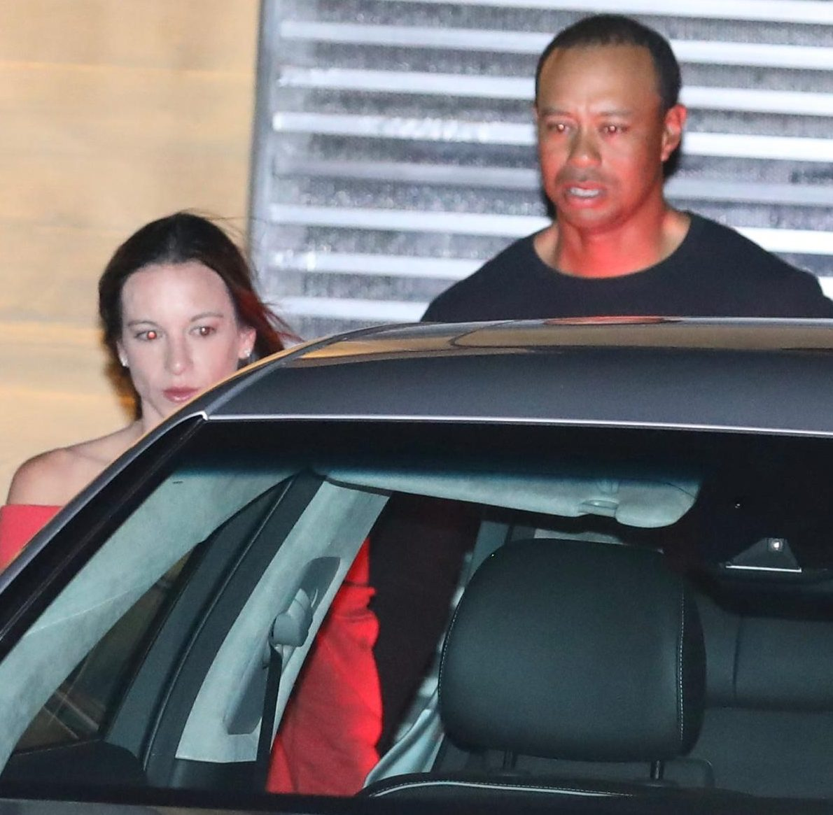 Tiger Woods and girlfriend Erica Harman leave the Nobu in Malibu