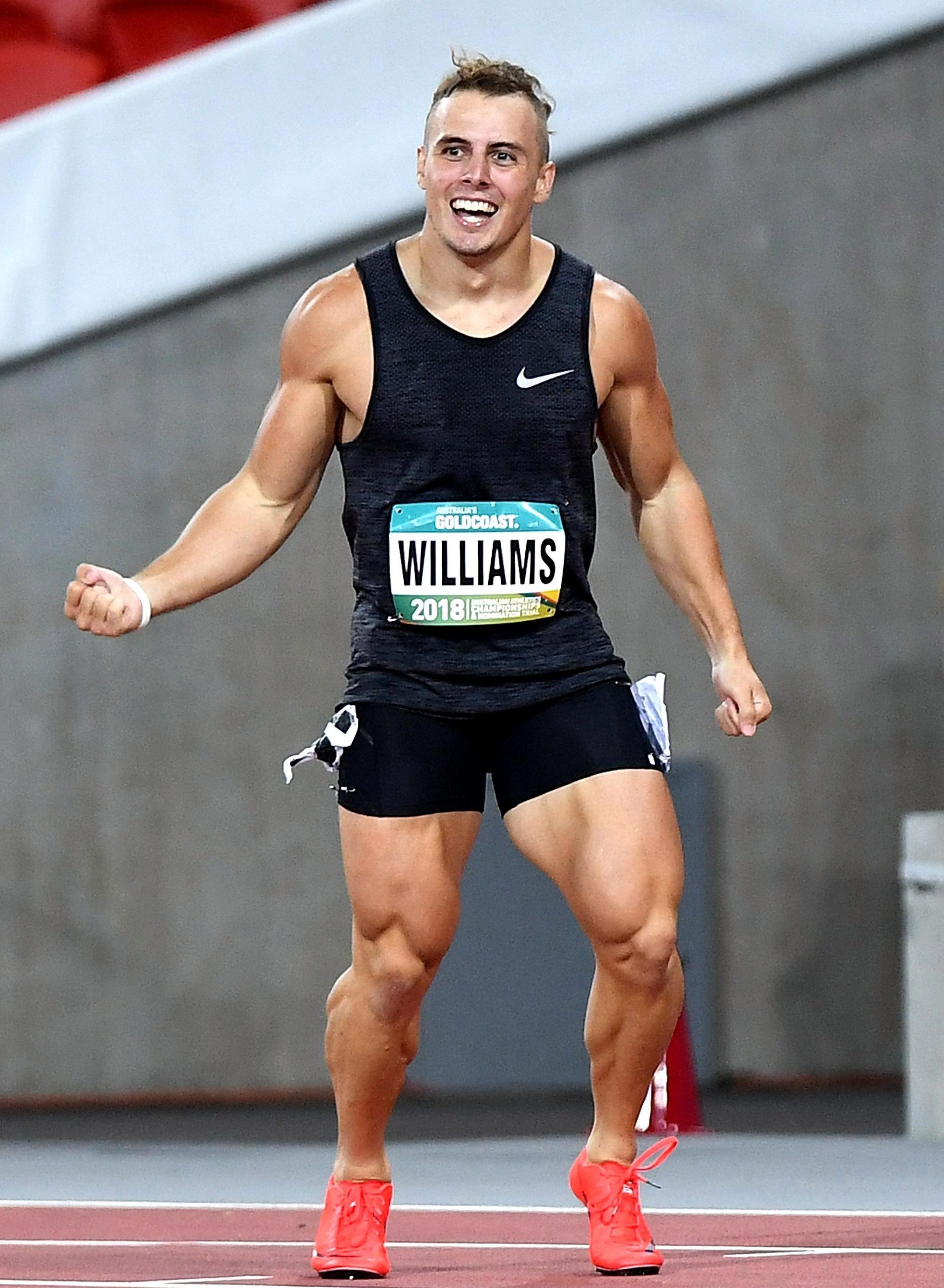 Trae Williams' quads have caught the attention of athletics fans after he blasted his way to victory in the Australian Commonwealth trials