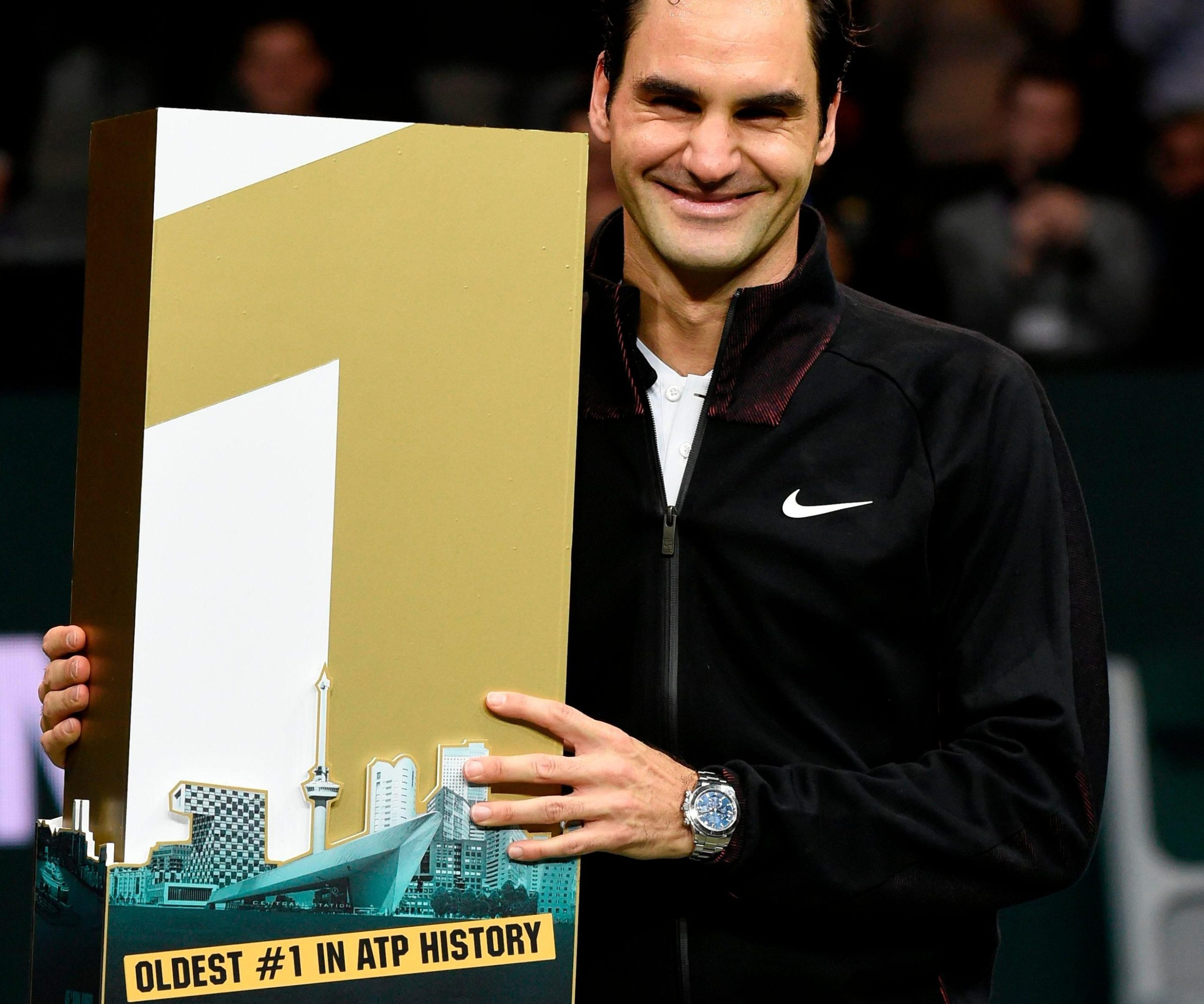 Roger Federer has made history again - as the oldest world No 1 ever in tennis