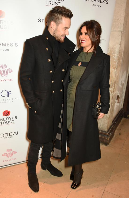 Liam Payne, pictured with Cheryl, as she's heavily pregnant with baby Bear
