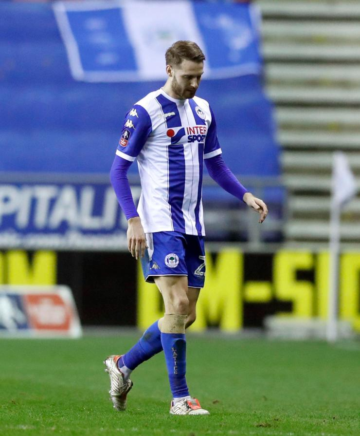 Former Manchester United man Nick Powell was forced off for Wigan through injury