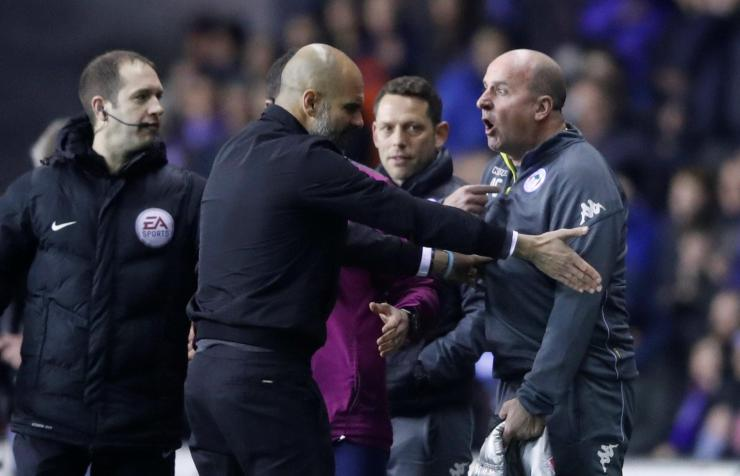 That sparked mayhem as both managers squared-up to each other on the sideline