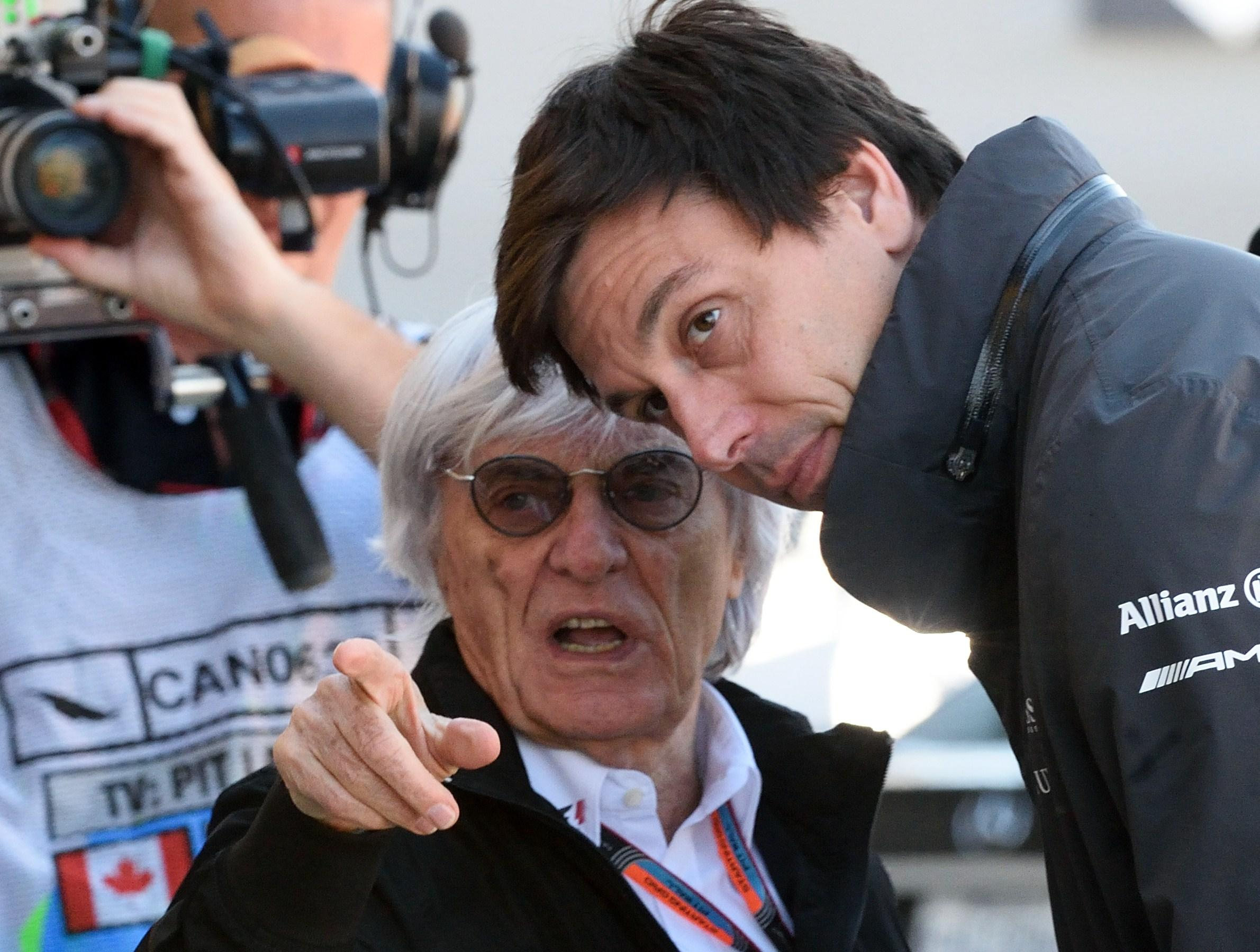 Bernie Ecclestone is not impressed with Mercedes boss Toto Wolff