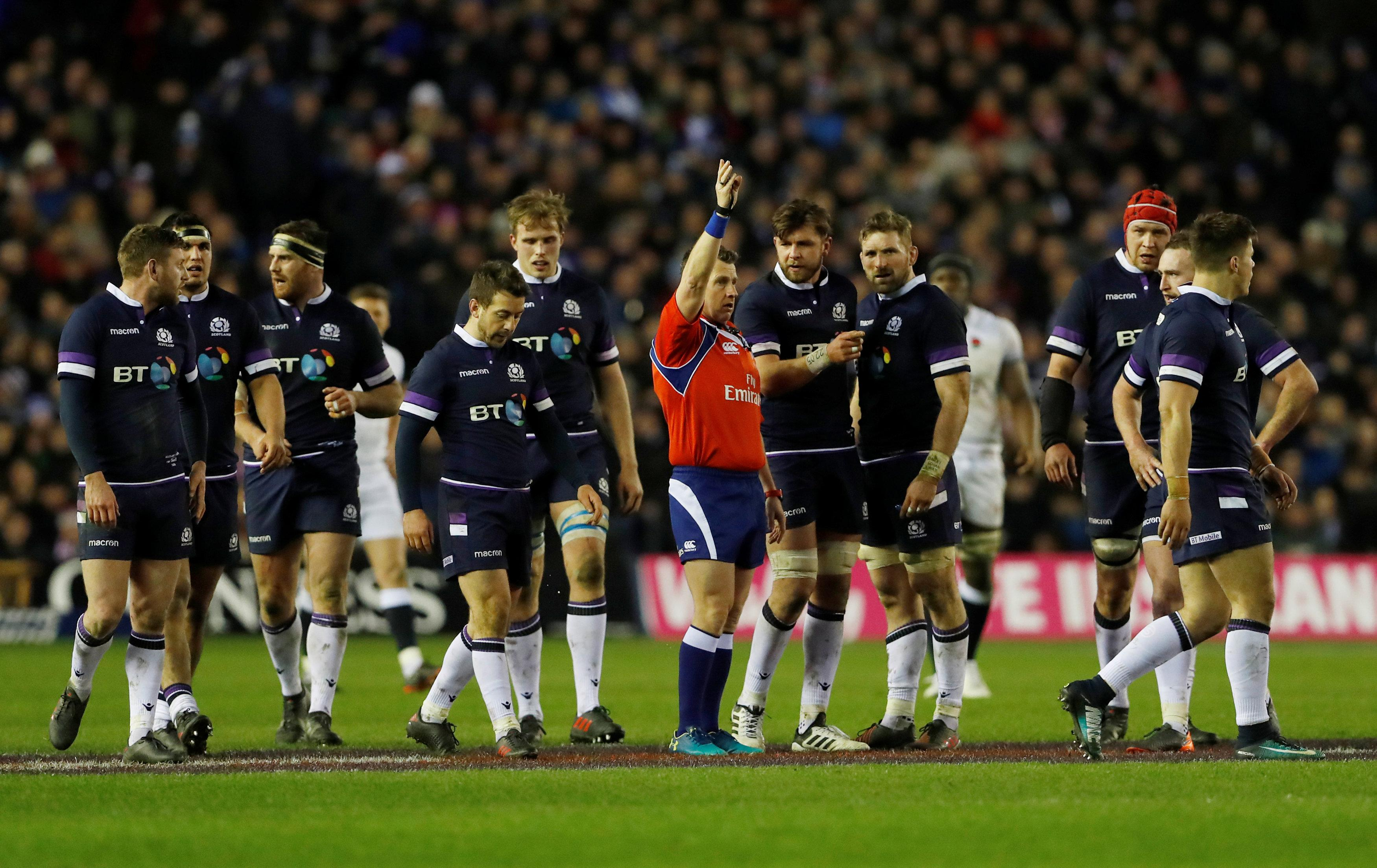 Some England supporters were accused at how top ref Nigel Owens took charge of the clash