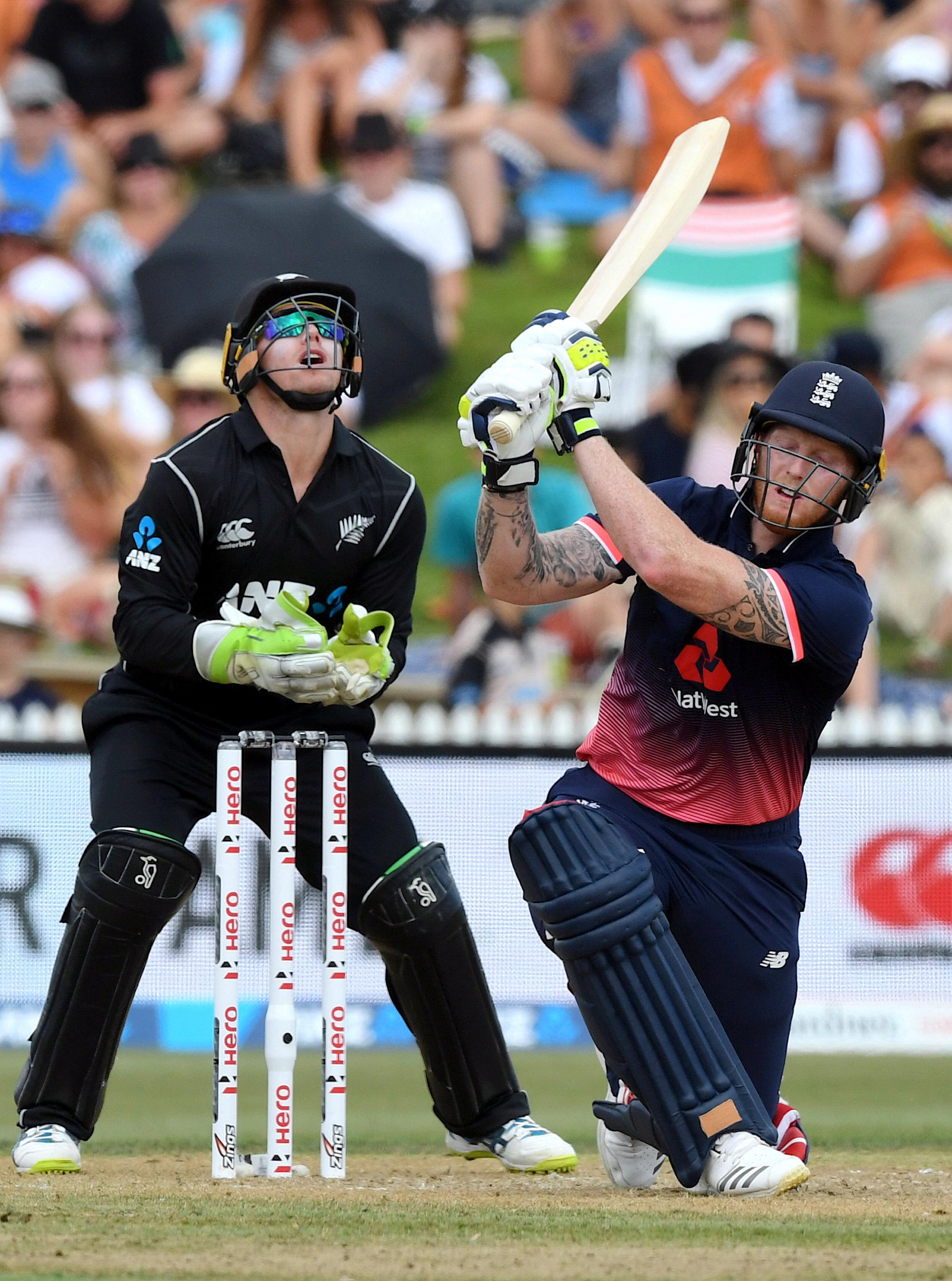Ben Stokes managed a boundary on return for England against New Zealand