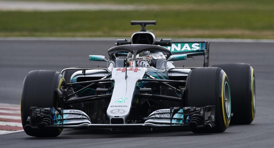 Mercedes driver Lewis Hmailton was kept off the Barcelona track due to the cold weather