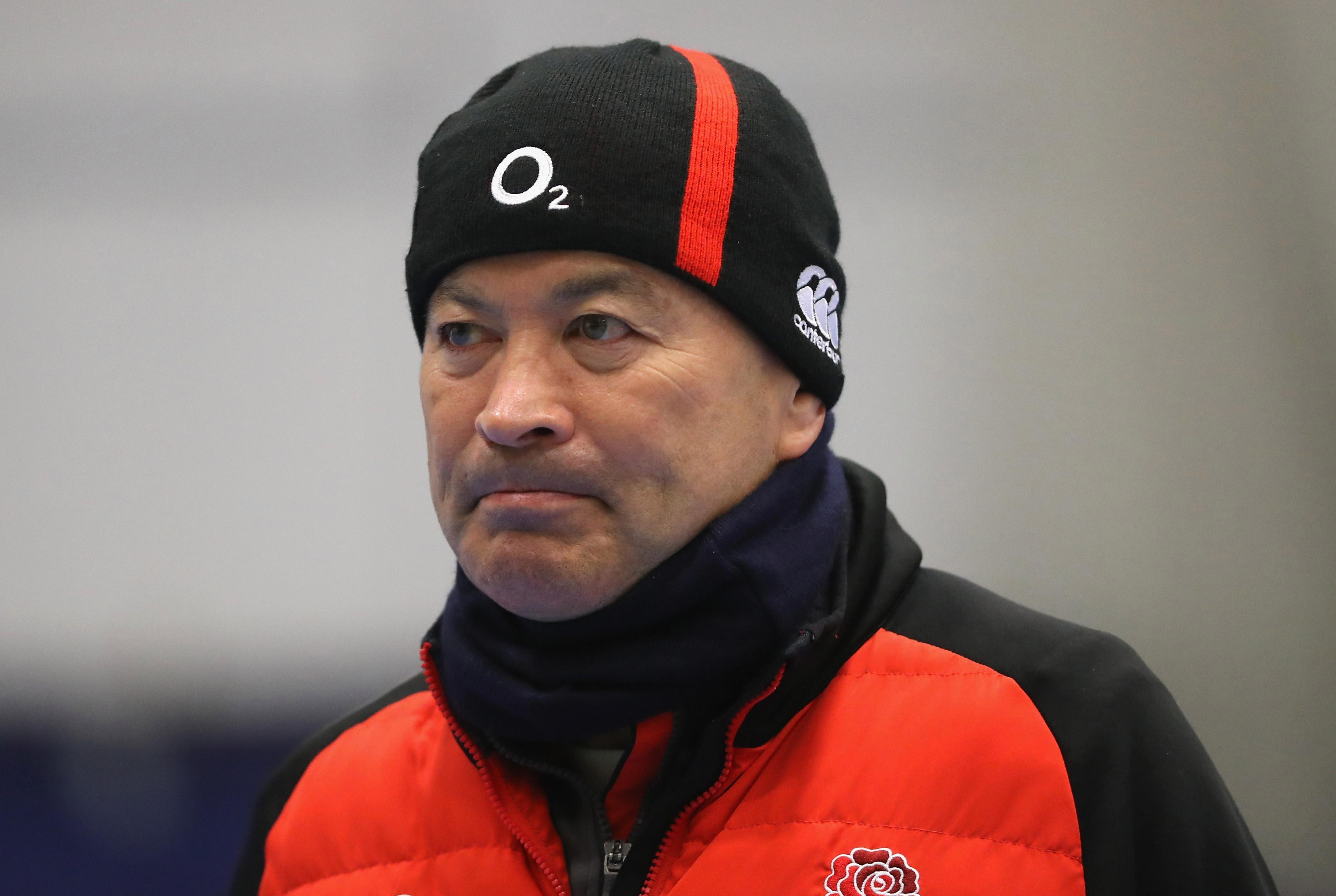 Eddie Jones was back at training with England at a session in Oxford