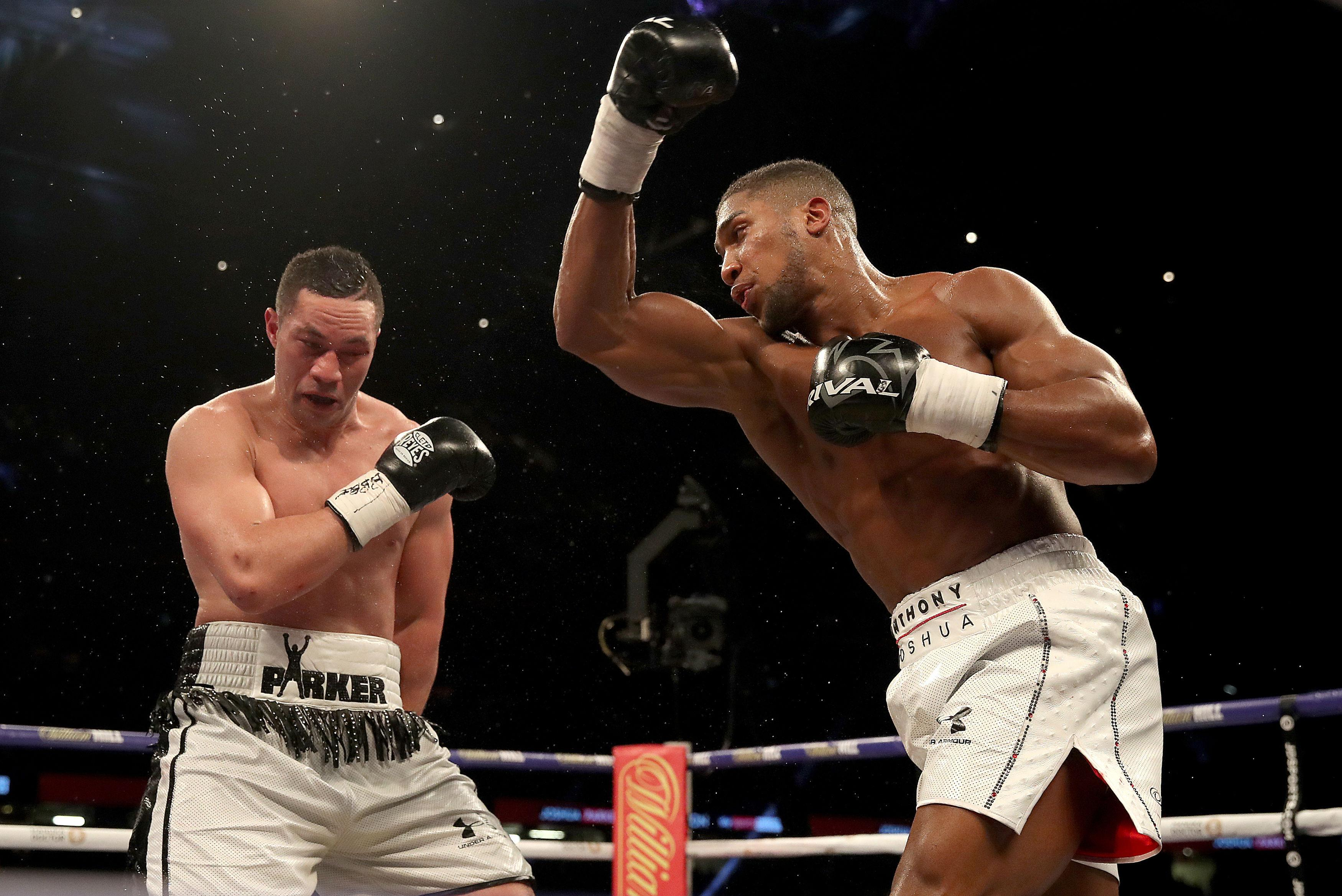 Anthony Joshua and Joshua Parker battled it out over 12 rounds in March