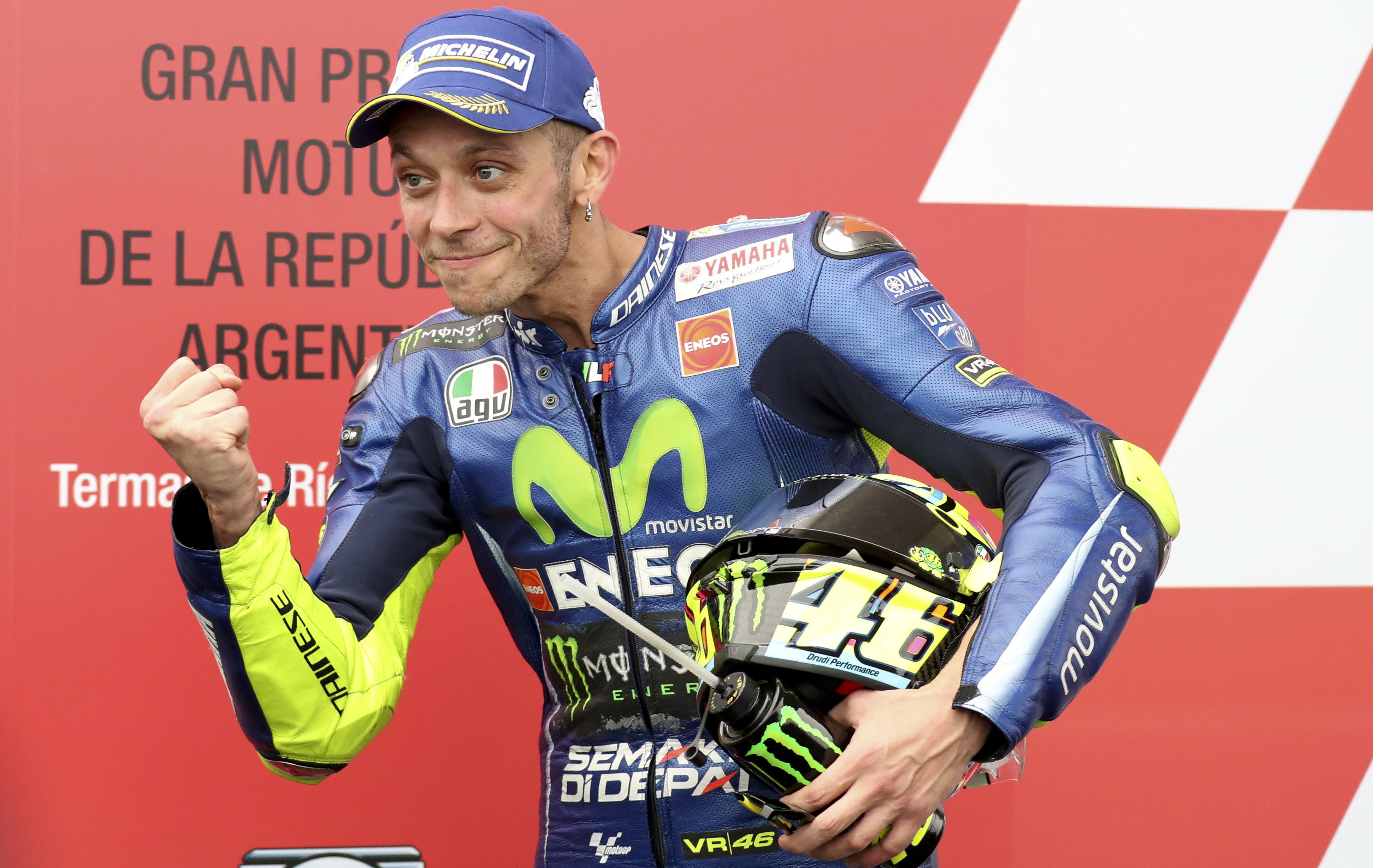 MotoGP legend Valentino Rossi once claimed he never wanted to get married