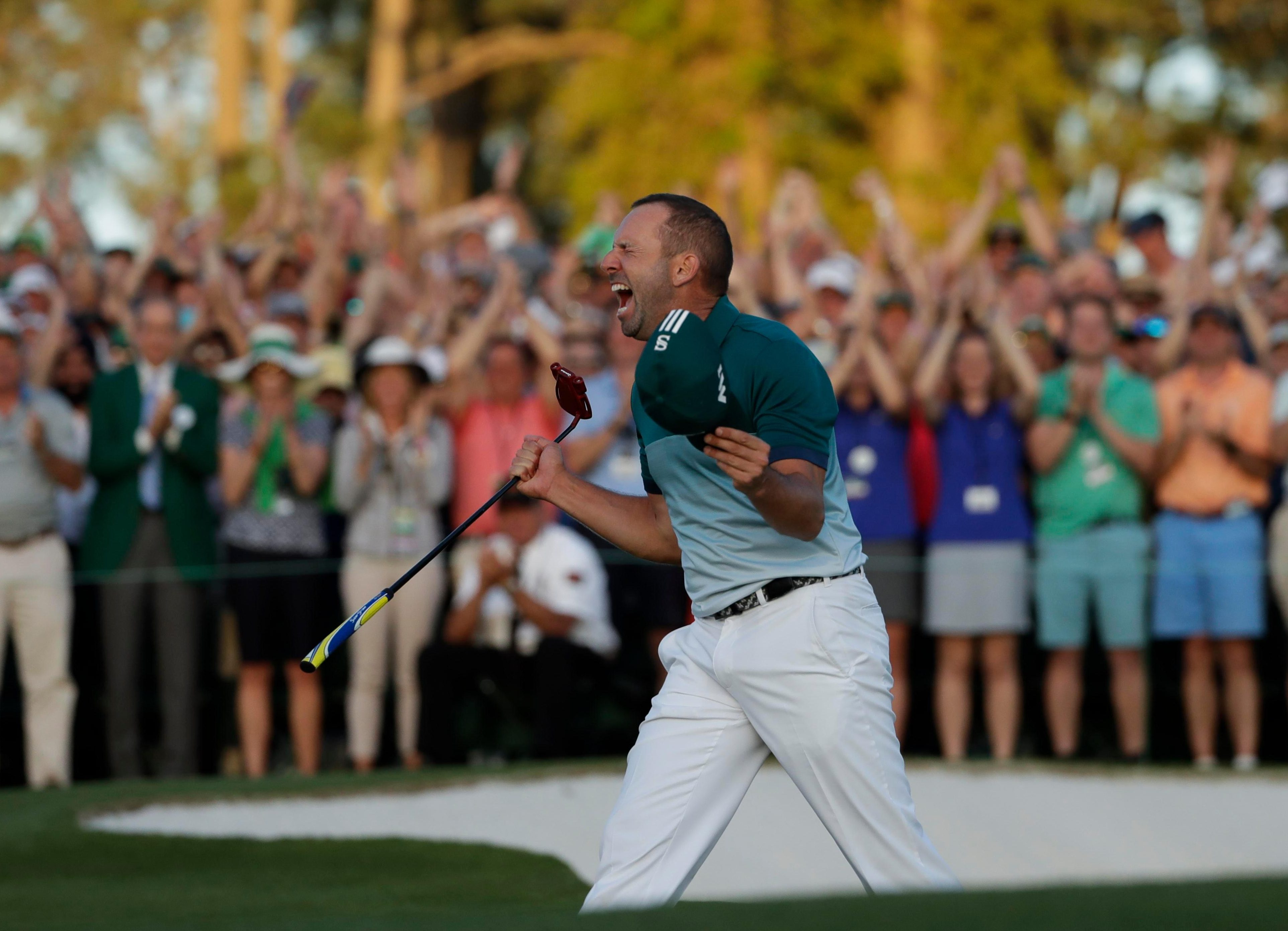 Sergio Garcia recalls how he stayed calm when it mattered most at the Masters last year