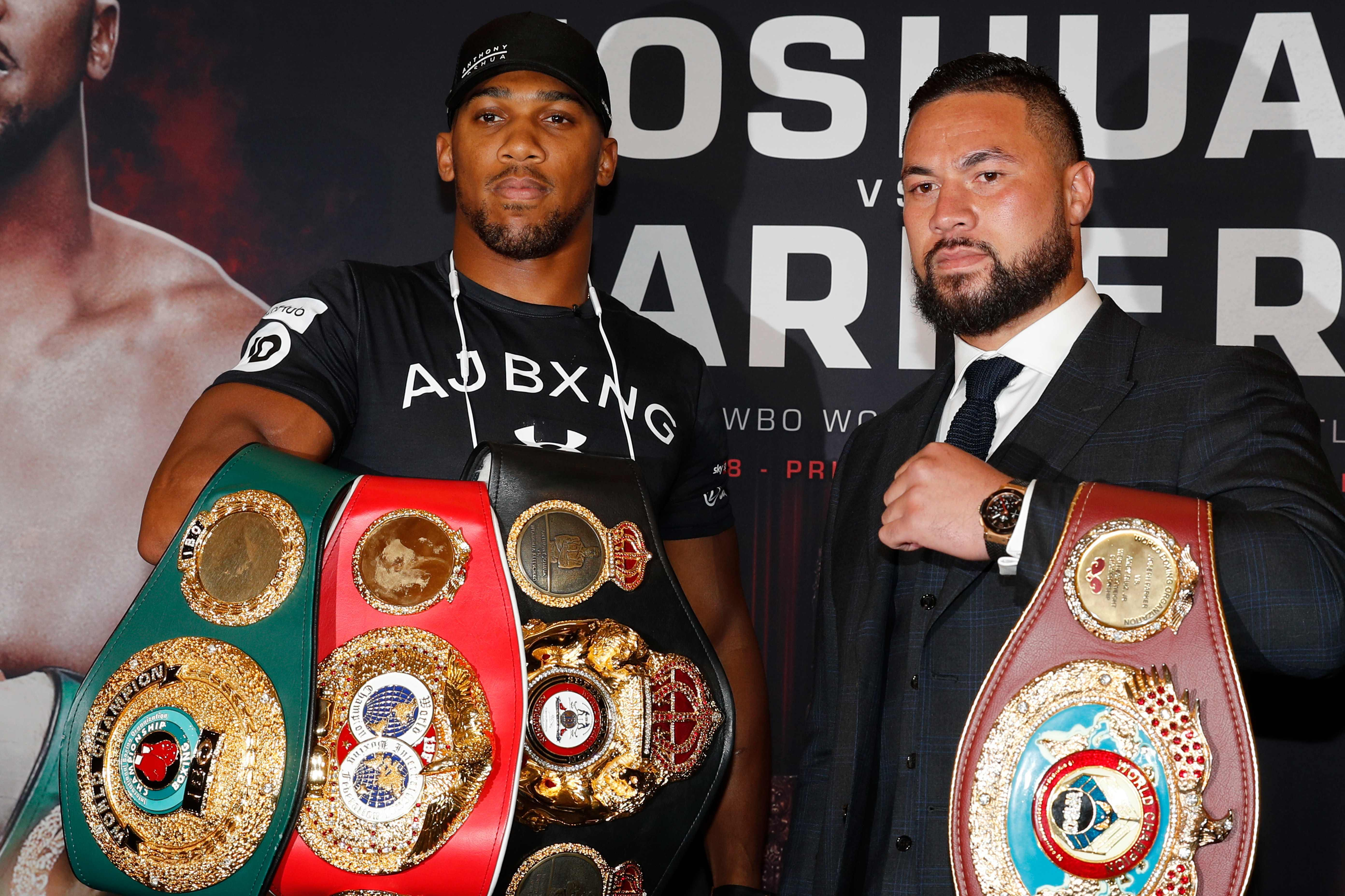 The pair are both unbeaten going into the fight