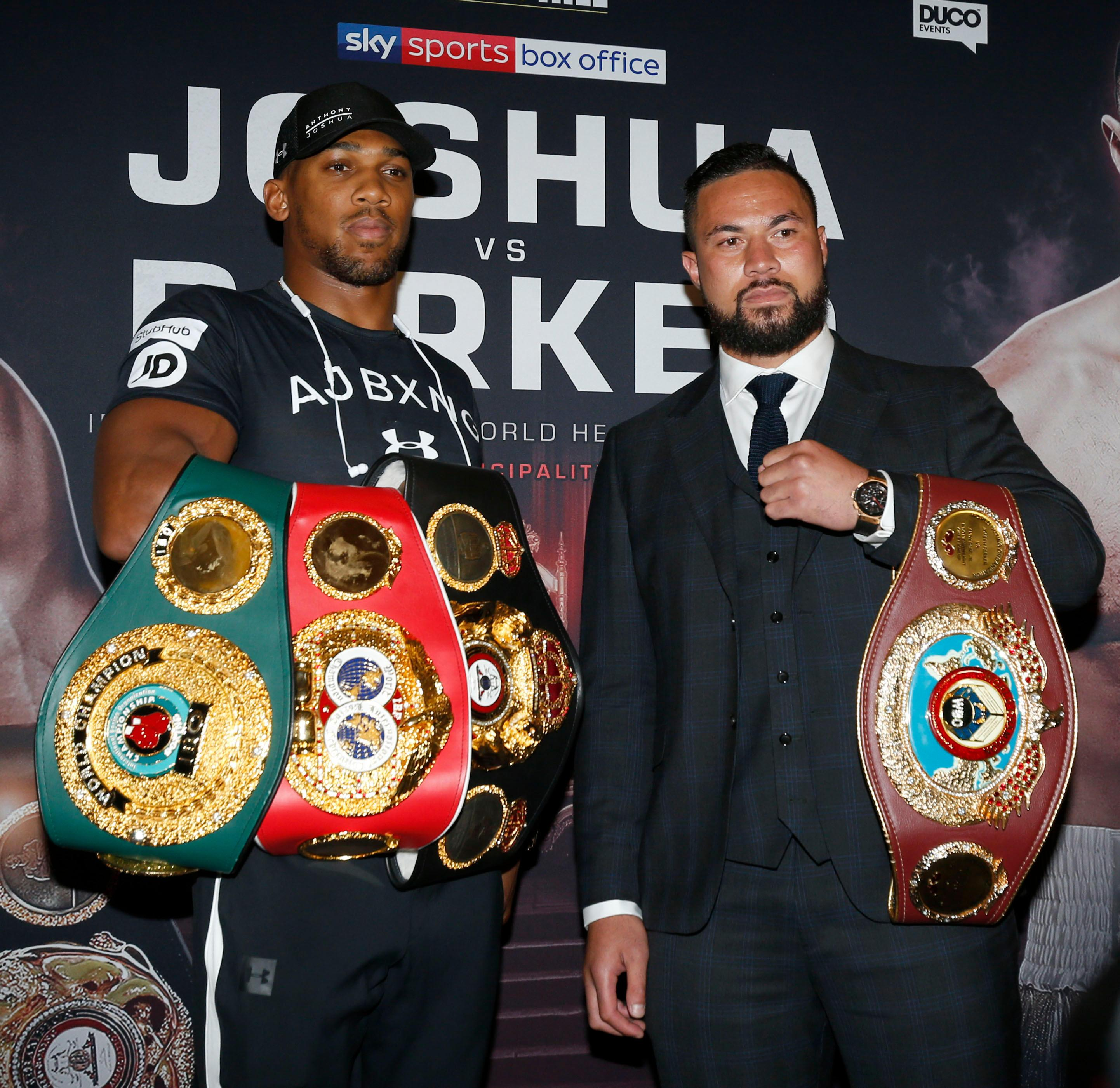 Anthony Joshua and Joseph Parker are set to collide on March 31
