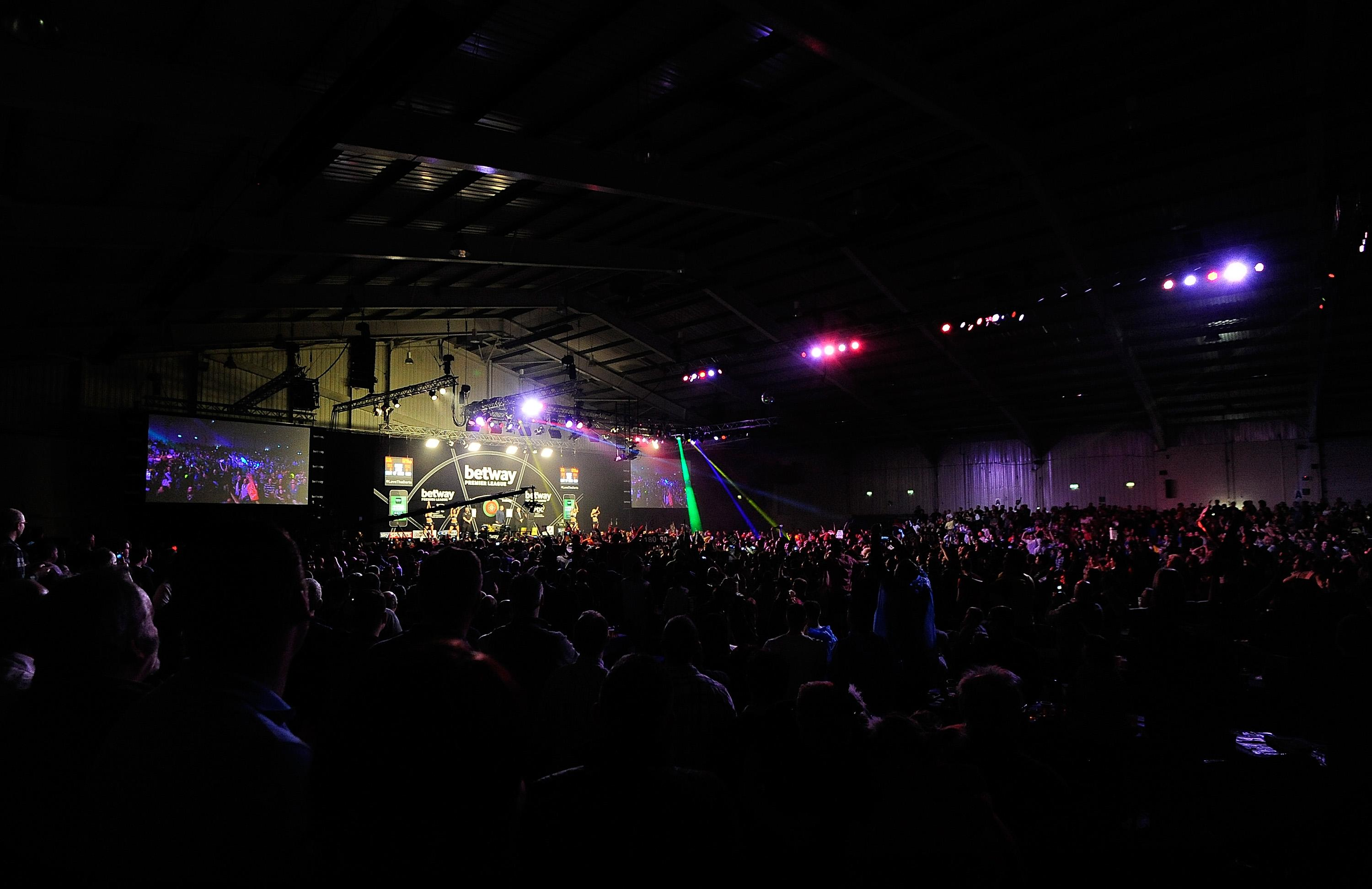 The Westpoint Arena in Exeter was due to hold the Premier League Darts