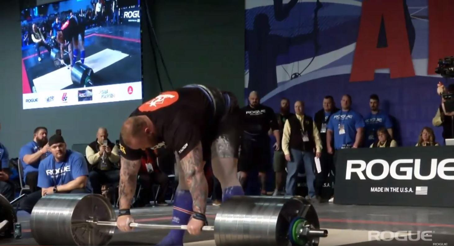 Hafthor Bjornsson set a new deadlift world record at the 2018 Arnold Strongman Classic