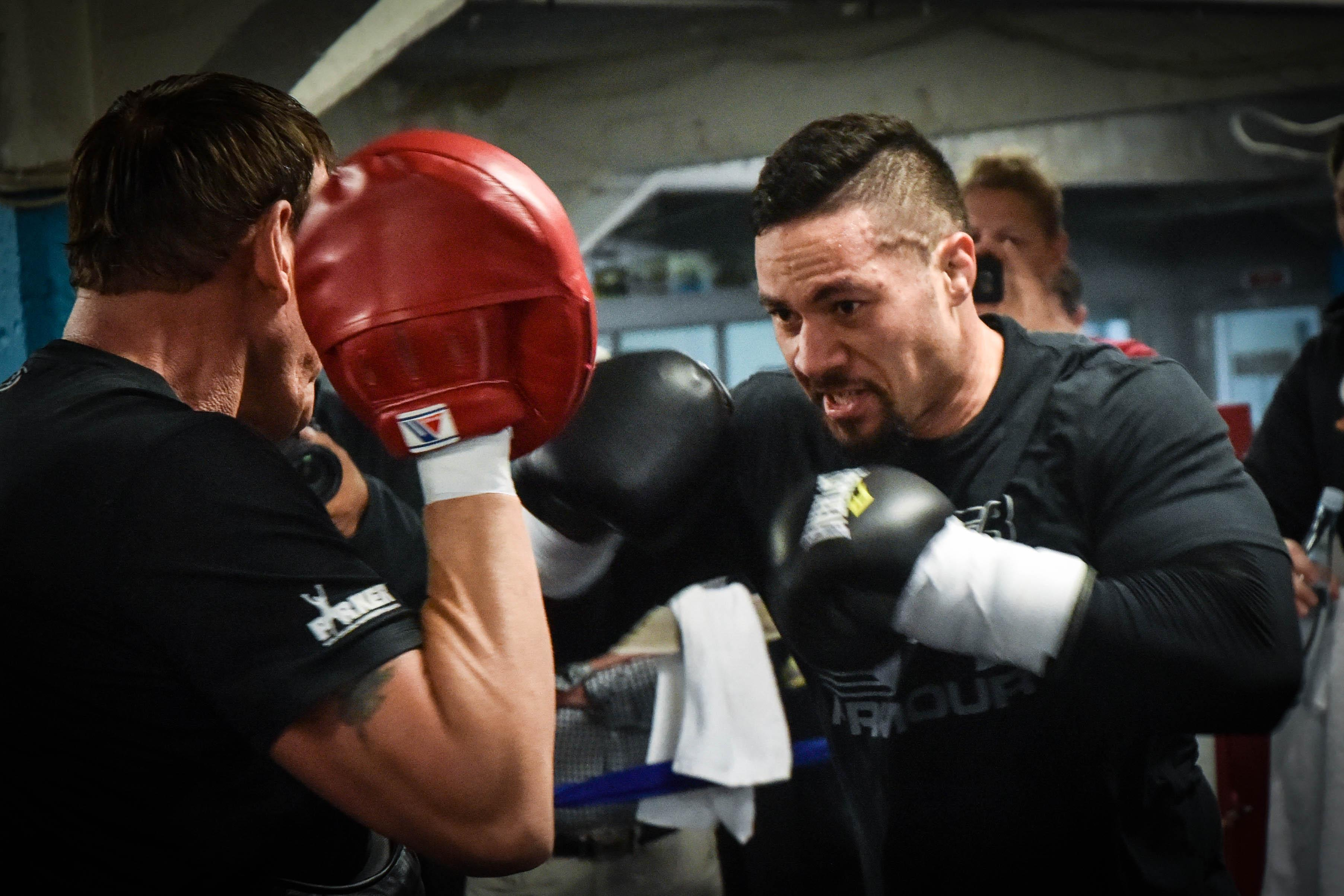 Joseph Parker will be a more powerful puncher in time to face Anthony Joshua, his camp claim