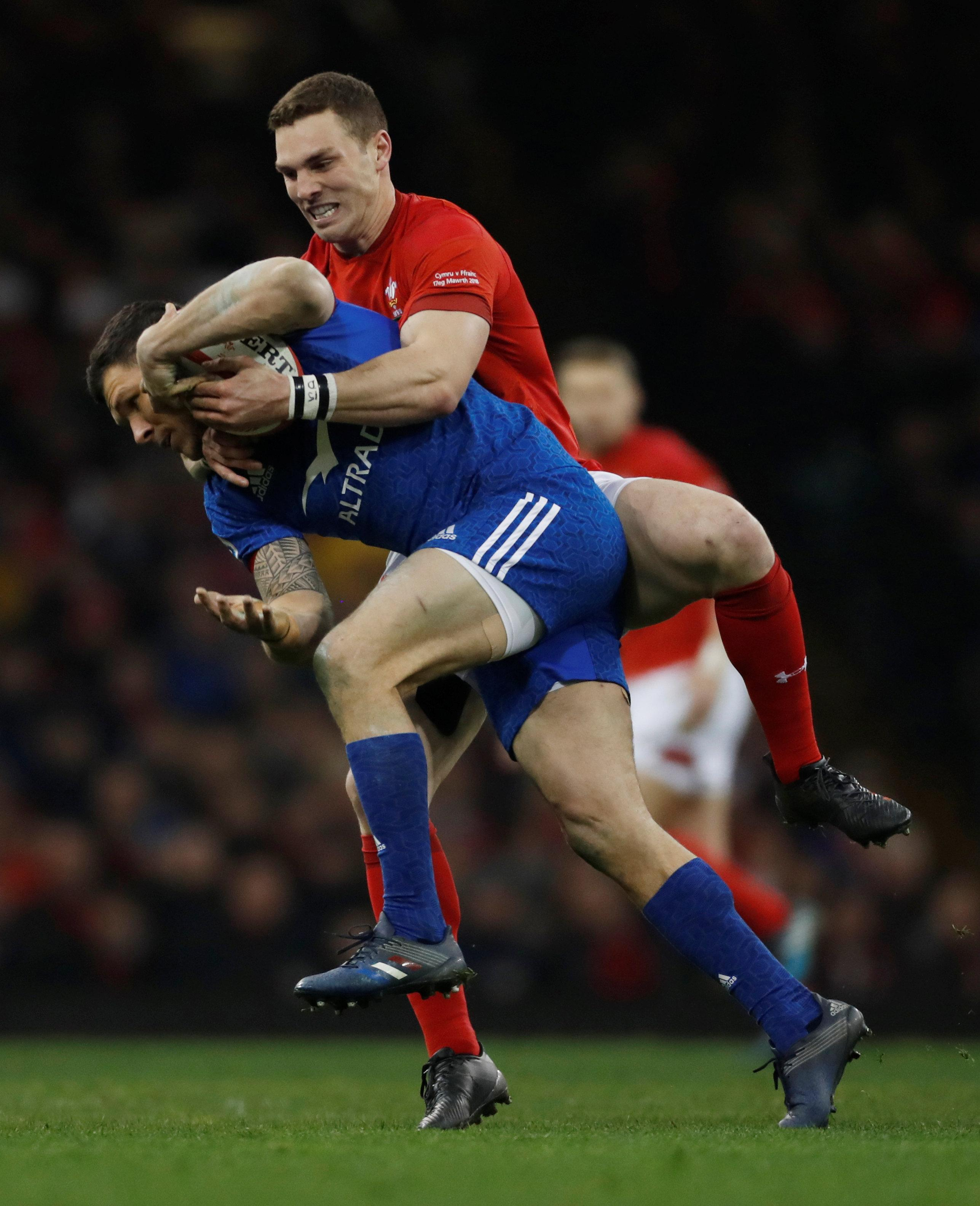 George North played for Wales in their 14-13 win over France in the final round of the Six Nations
