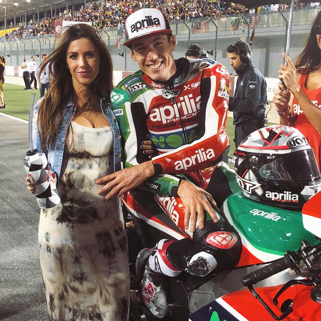 Aleix Espargaro and wife Laura Montero are expecting twins