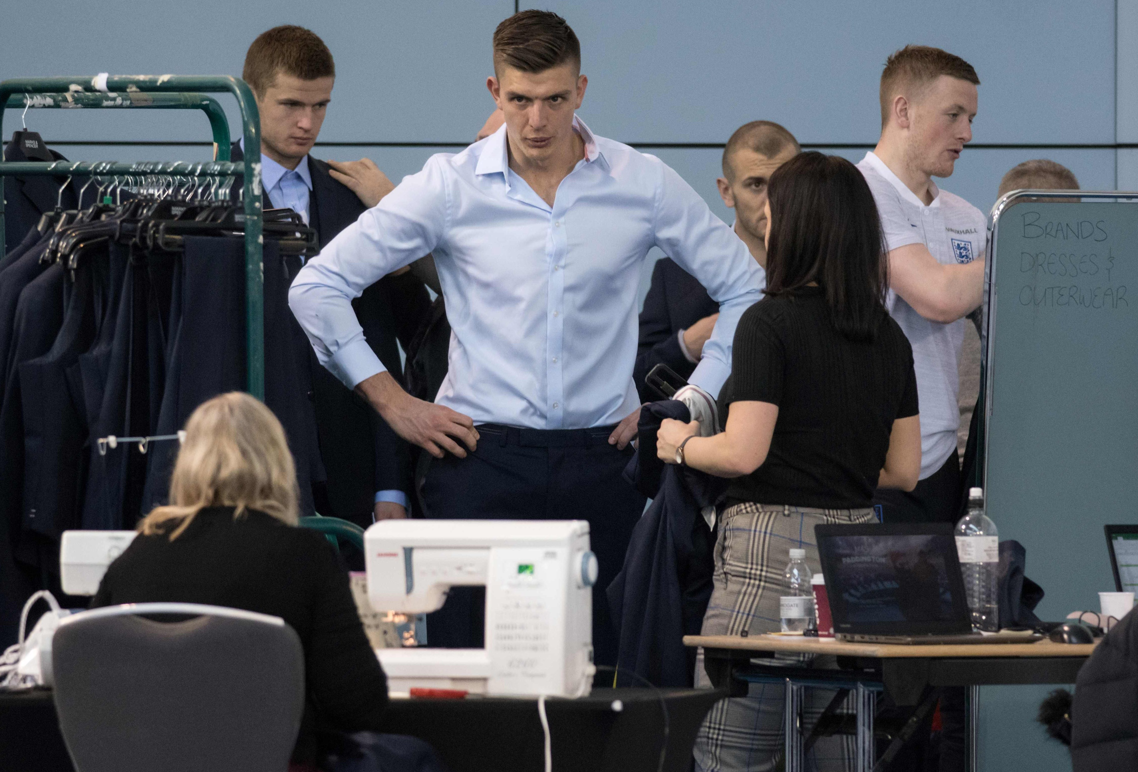 Nick Pope must feel part of the Three Lions scene now as he gets fitted for a suit