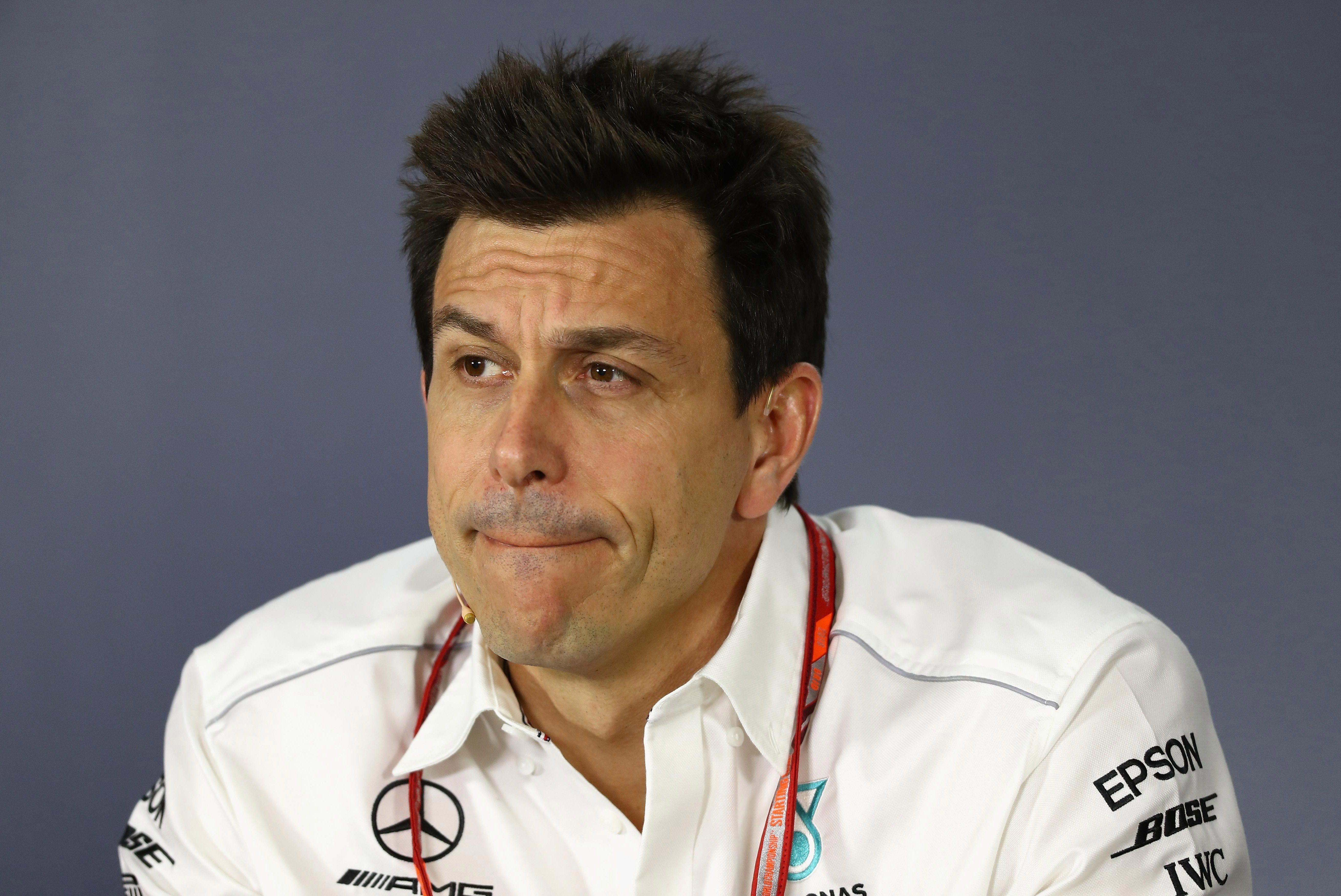 Mercedes boss Toto Wolff thought Hamilton's lead was enough until he saw him coming out of the pits