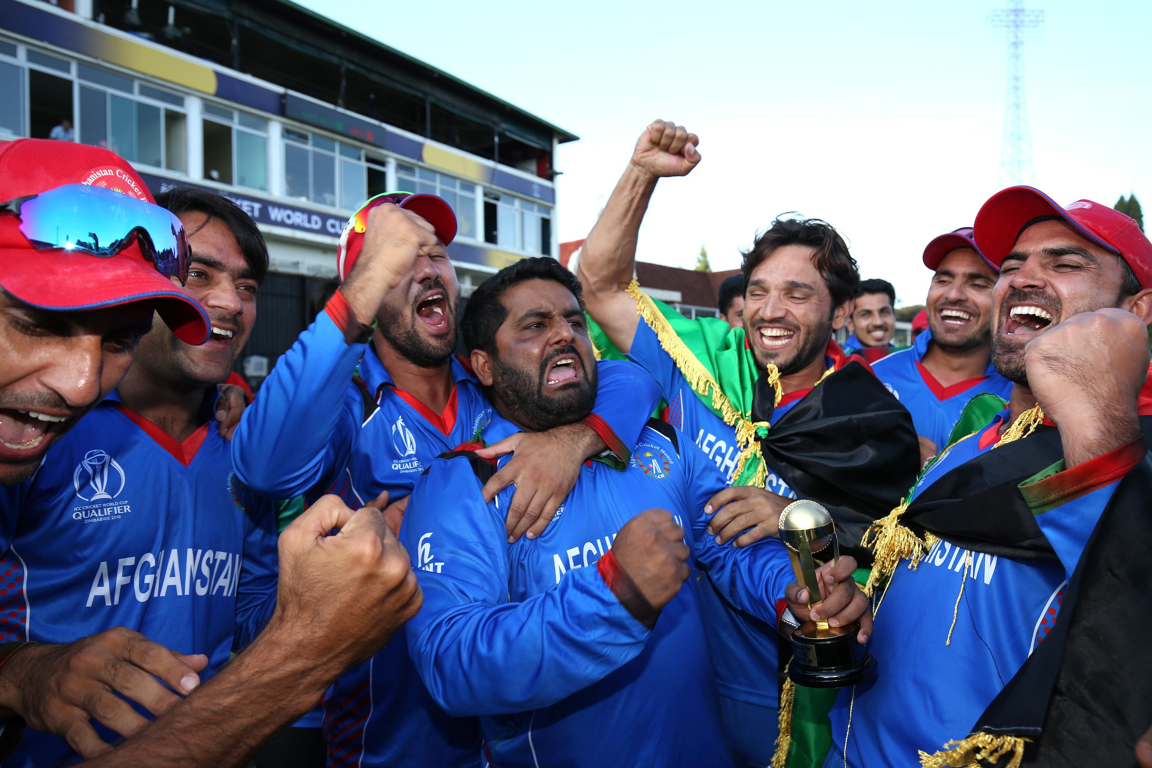 Afghanistan rejoiced as they became the tenth and final team to qualify