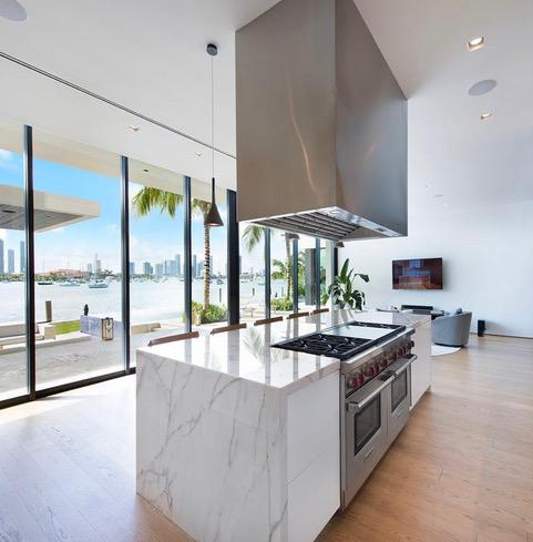 The kitchen has all the trimmings and the estate agents recommend a private chef