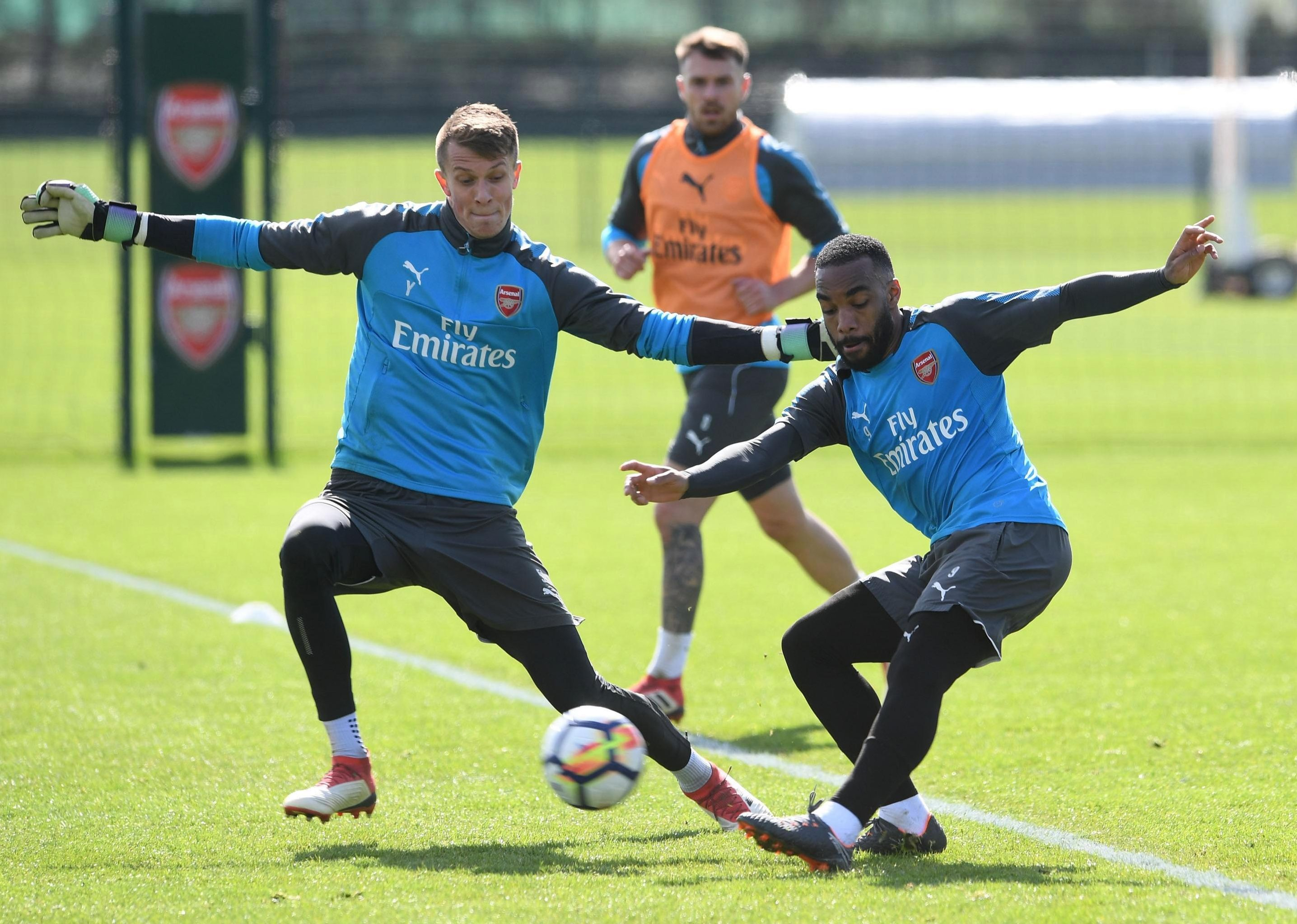 Lacazette has trained well with Arsenal this week and is now in contention to face Stoke
