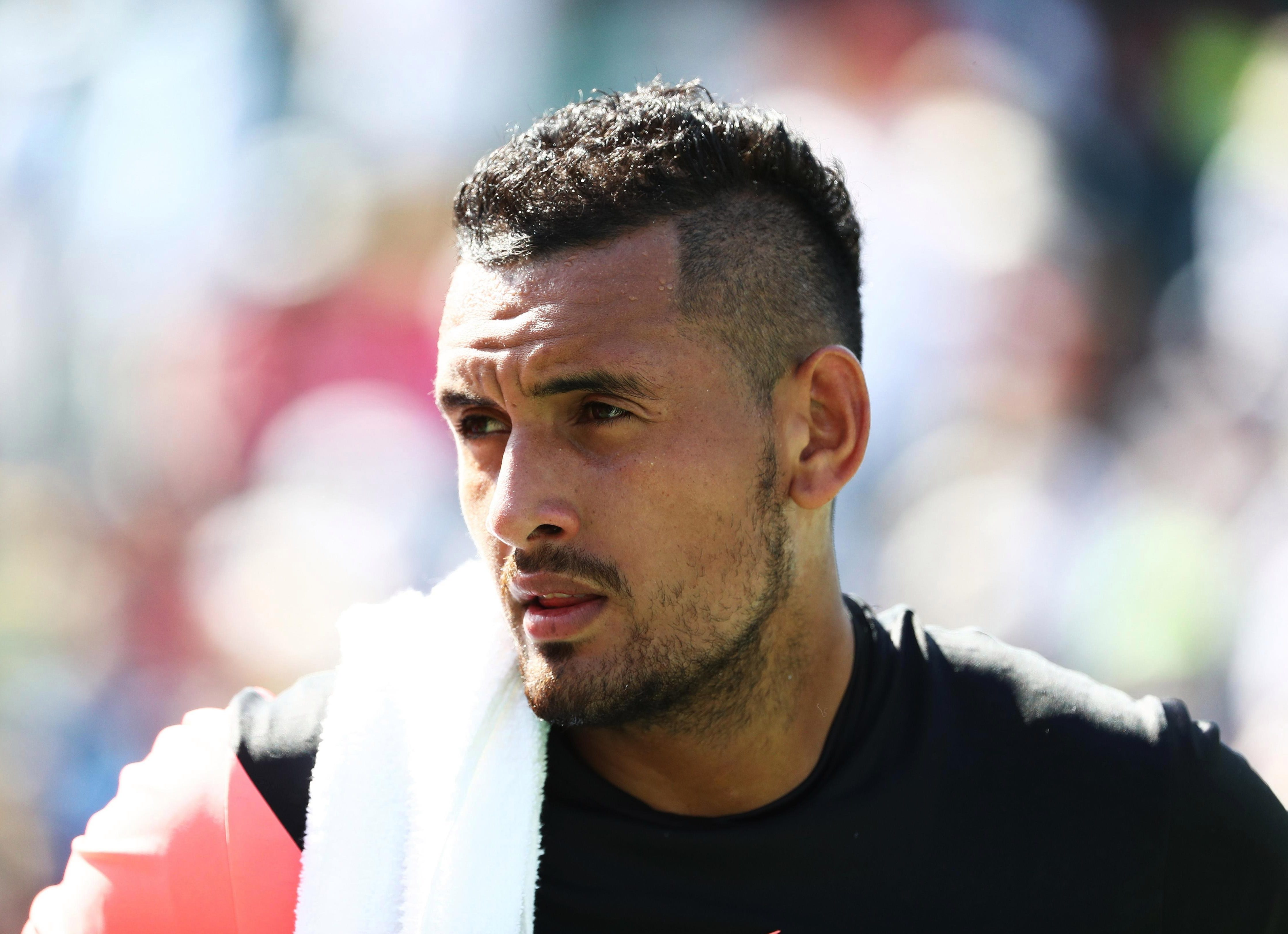 Nick Kyrgios couldnt help but have his say on the Miami Open row