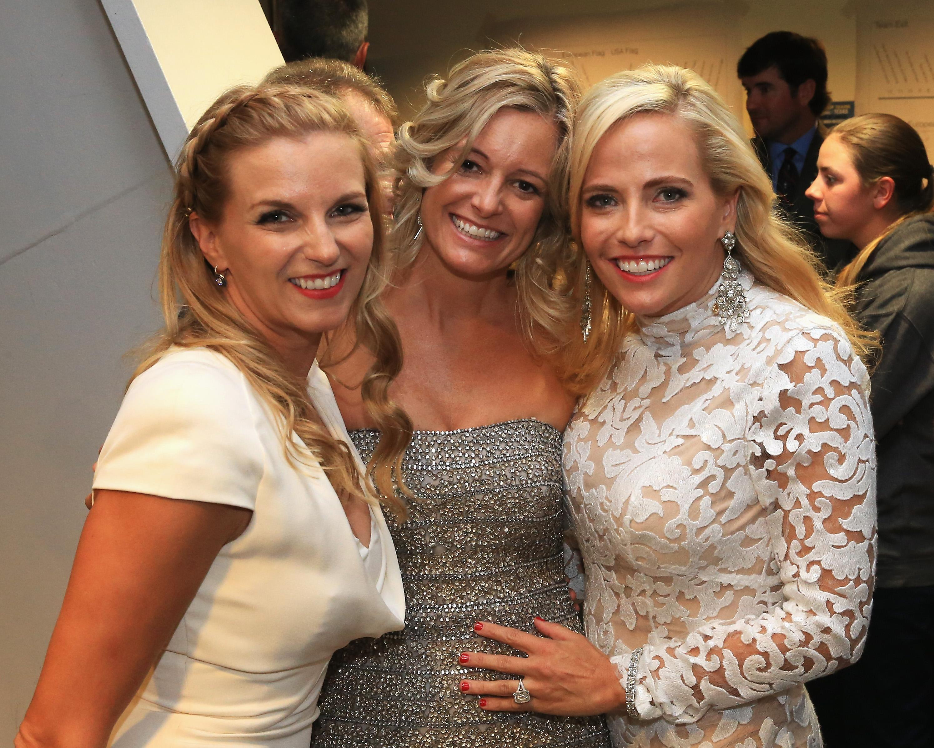 Kate (L) with Tabitha Furyk and Amy Mickelson