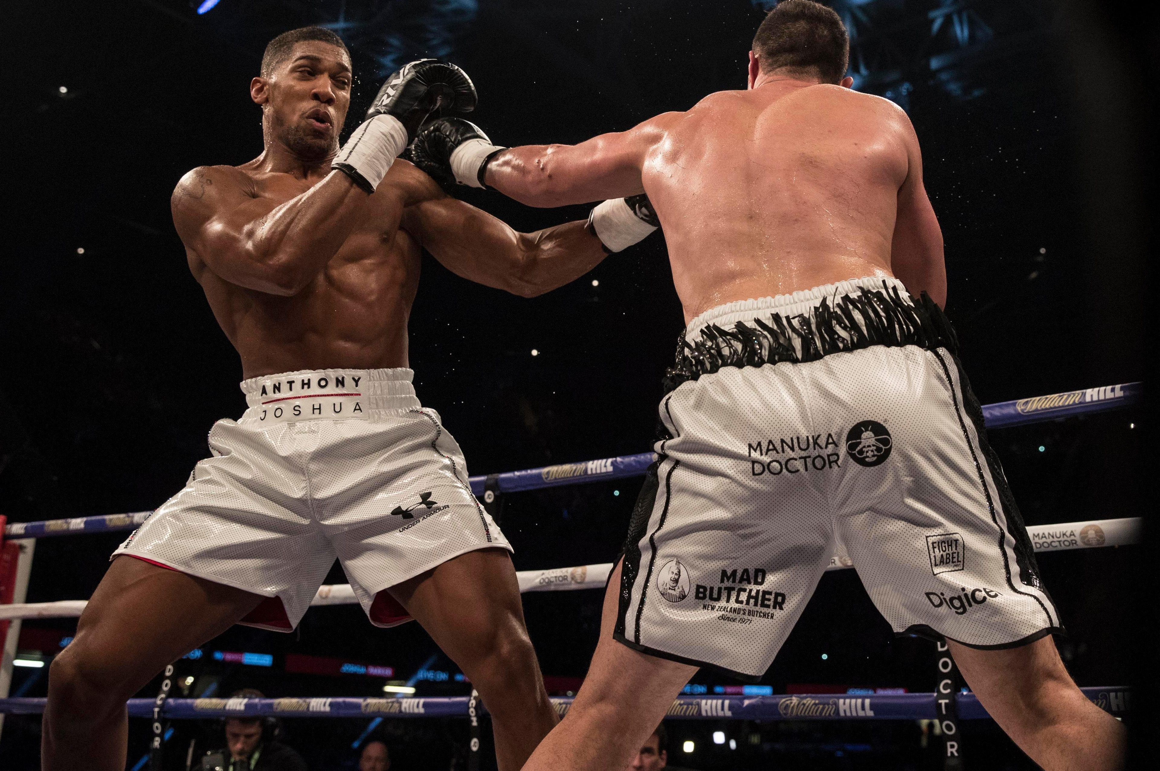 Image result for Anthony Joshua beats Joseph Parker by unanimous decision in heavyweight clash