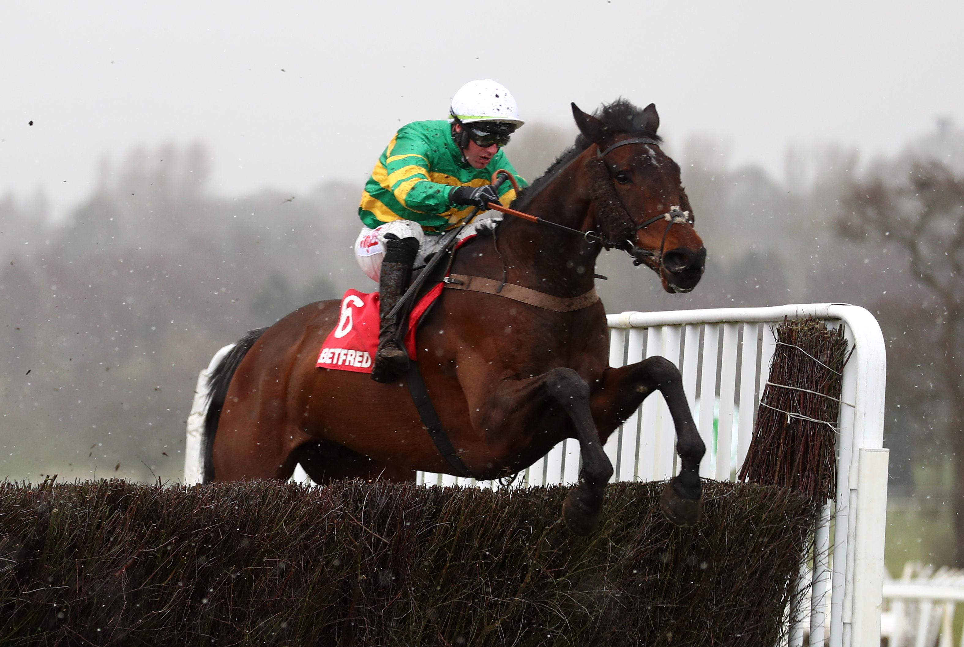 Behind Time got off the mark over fences on his last start