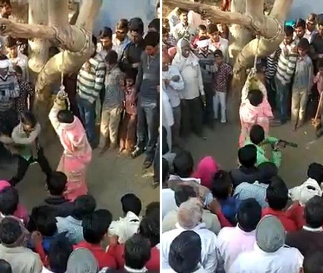 Wife Flogged  Times By Husband In Front Of Baying Mob Who Tried To Rape Her
