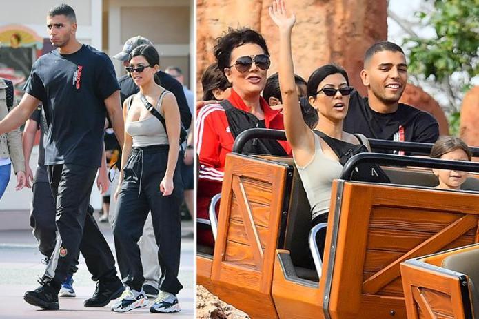 "Resultado de imagen de Kourtney Kardashian & Younes Bendjima Spend Time Together at Disneyland"""