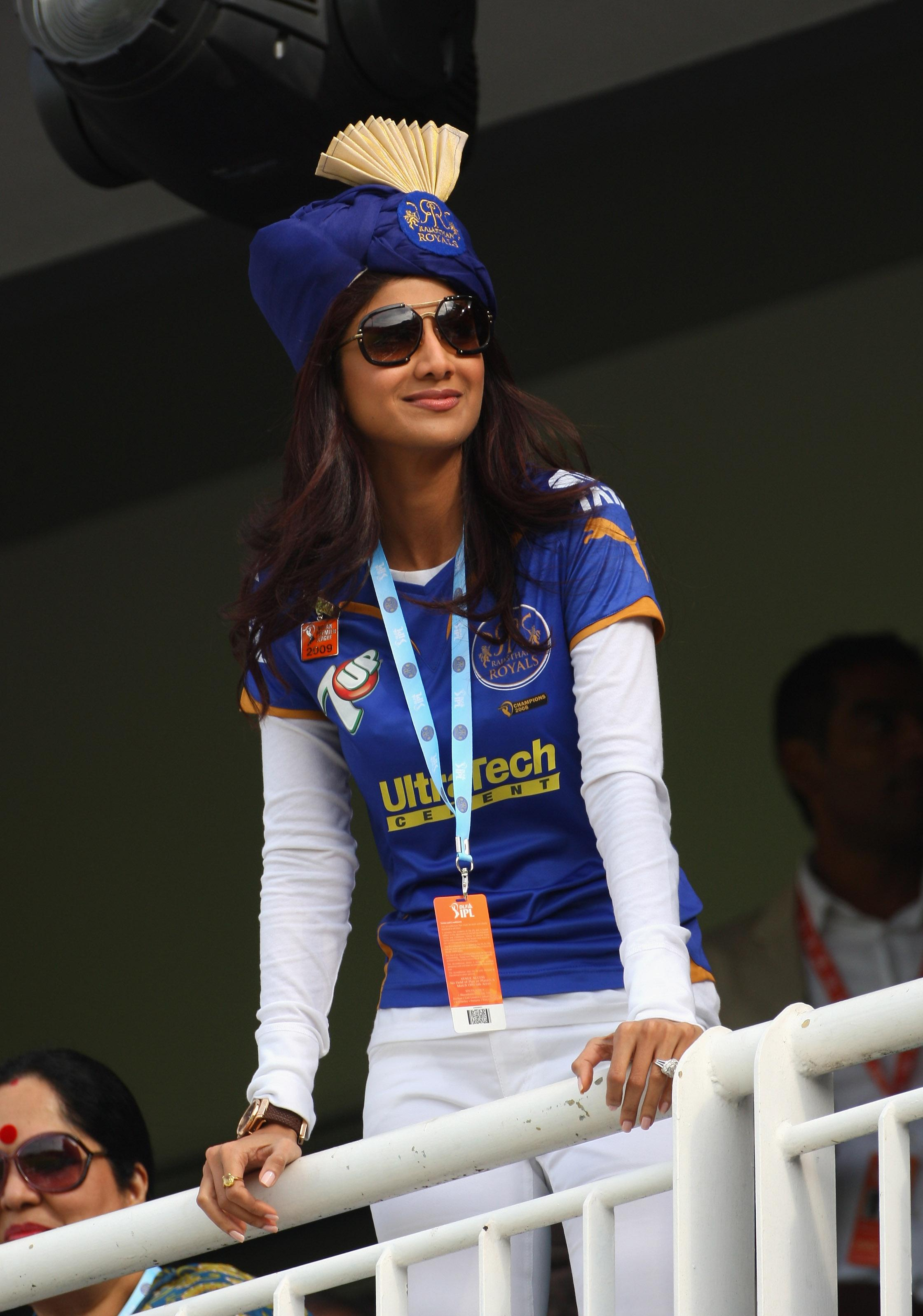 Bollywood actress Shilpa Shetty and her husband bought a stake in the Rajasthan Royals in February 2009