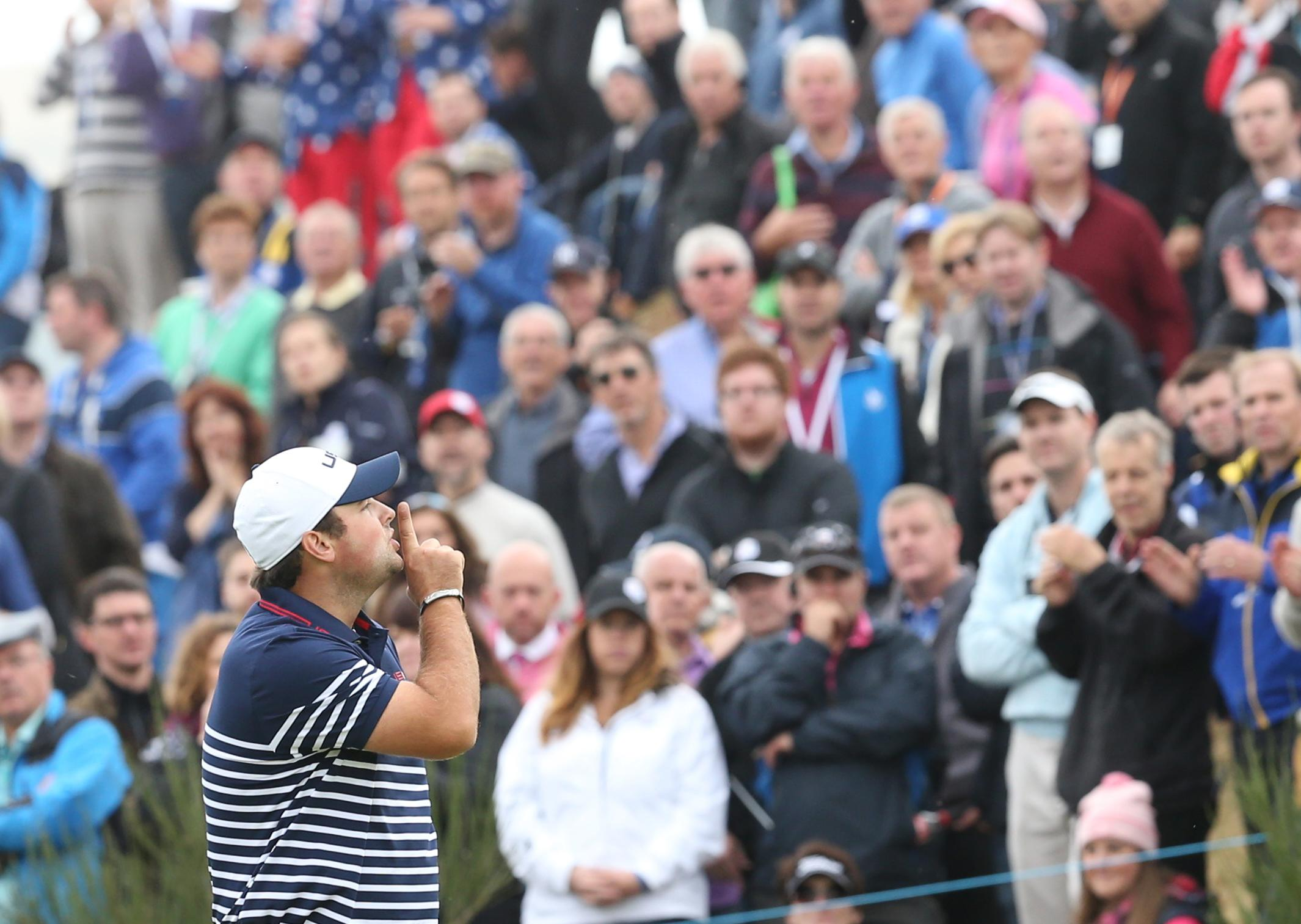 Patrick Reed angered Europeans when he told them to shush at the 2014 Ryder Cup