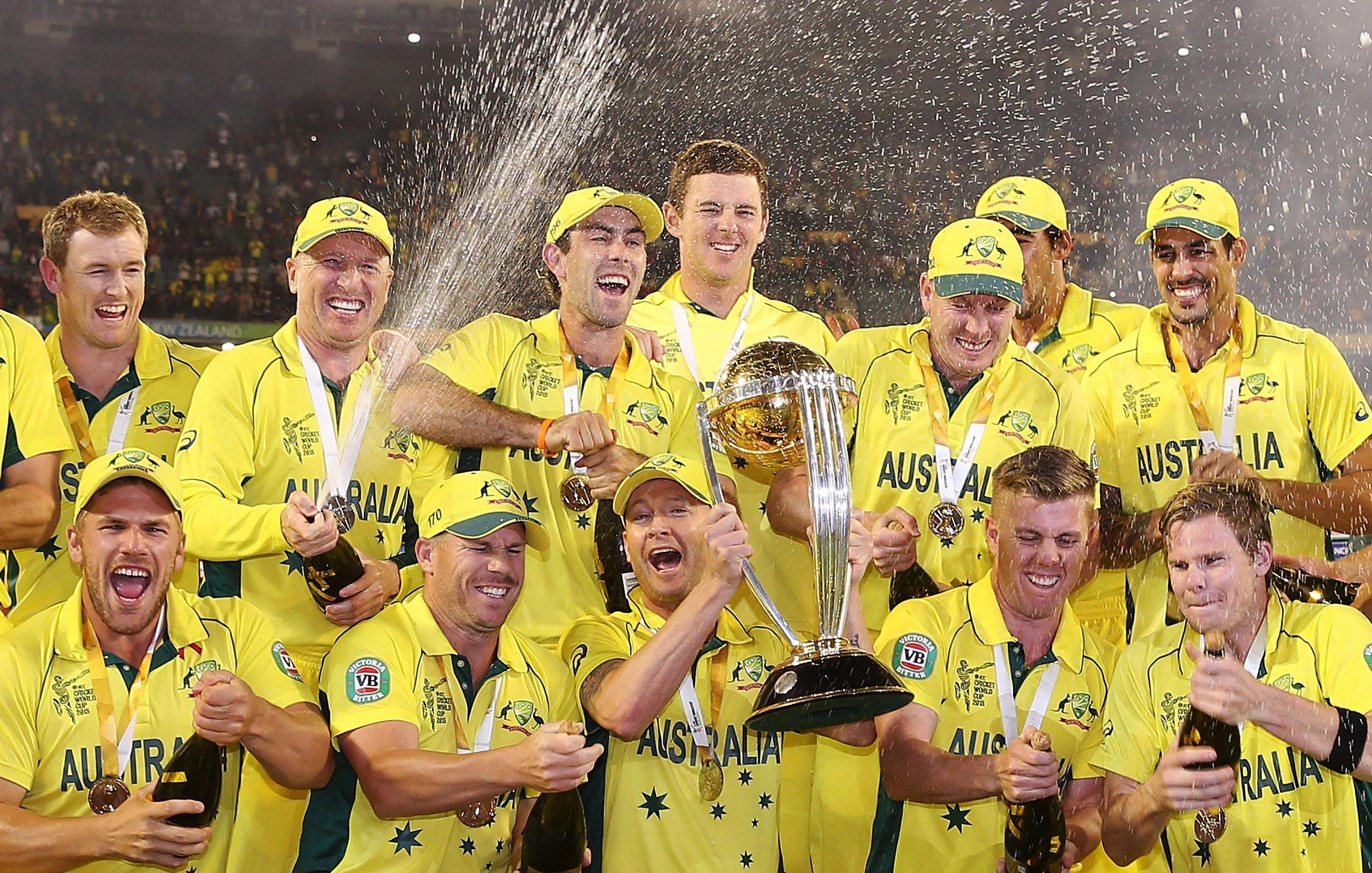 Australia lifted the last Cricket World Cup in 2015