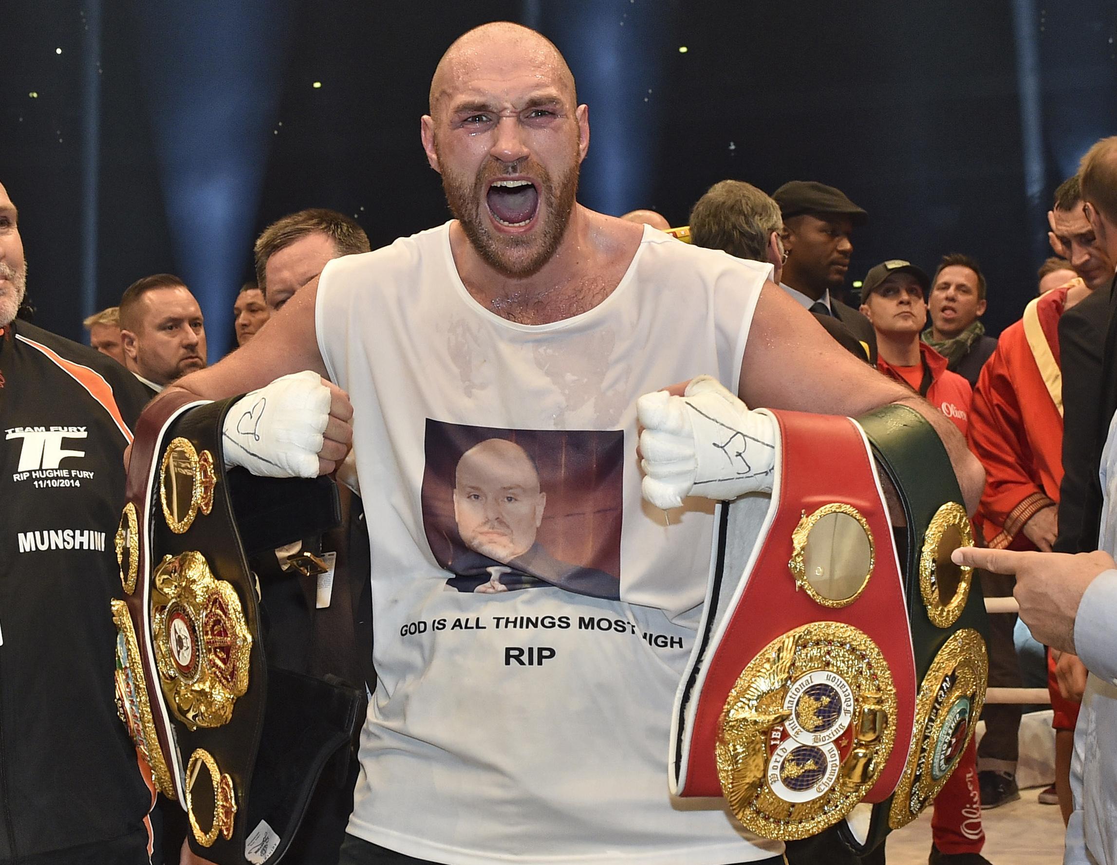 Fury, 29, is looking to reclaim his old belts he won against Wladimir Klitschko in November 2015