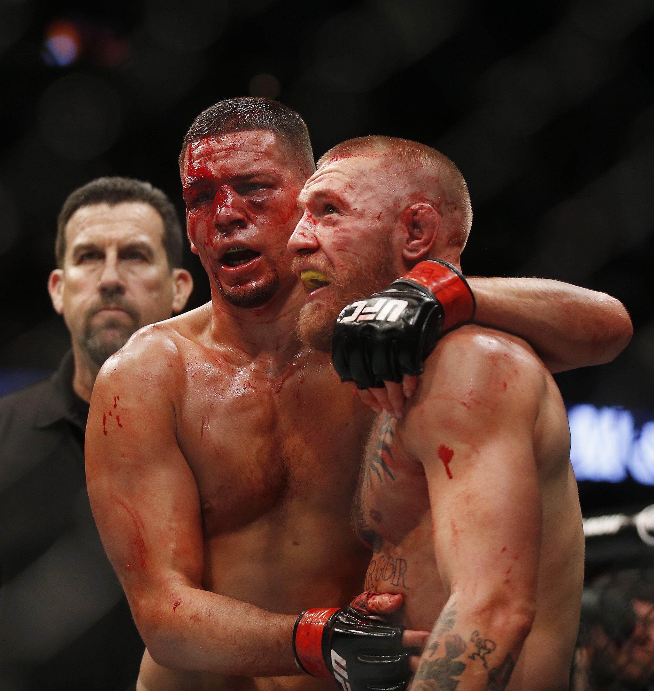 Nate Diaz and Conor McGregor fought twice in 2016 with the Irish fighter winning the second bout