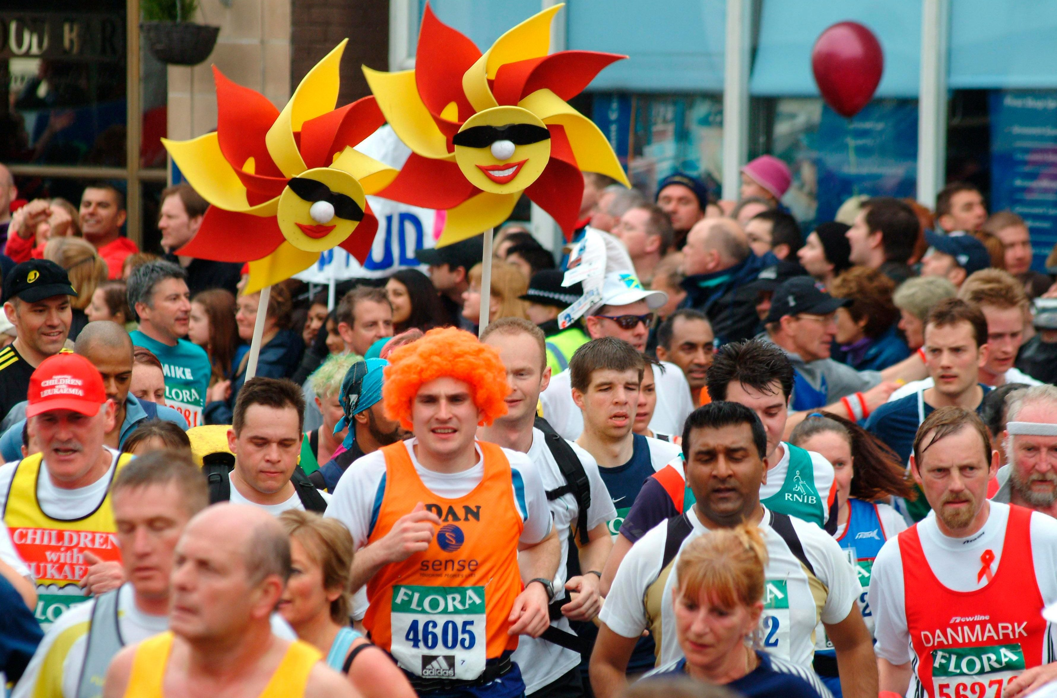 Fun runners will be out in force at Sunday's London Marathon