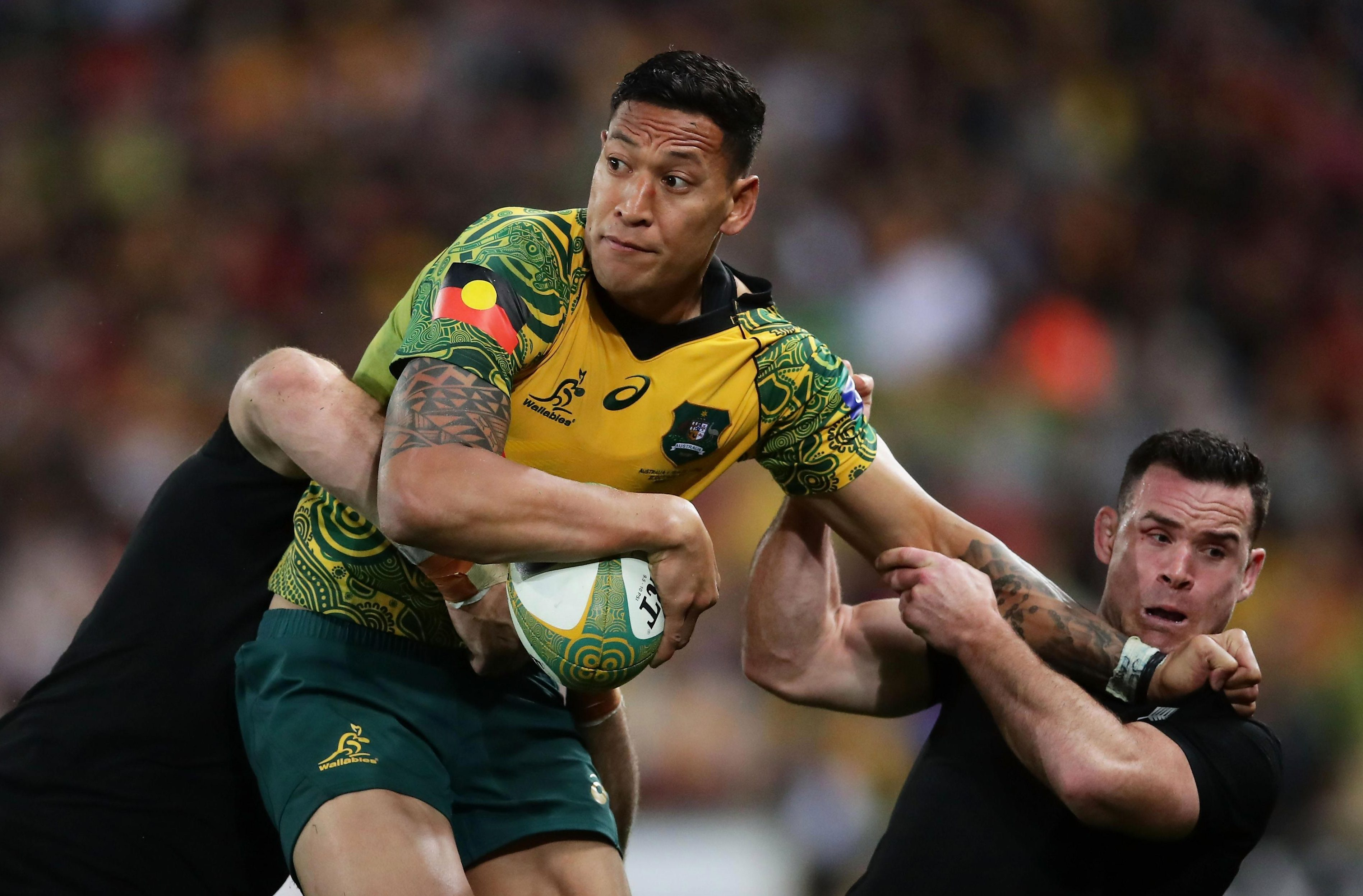 Israel Folau has sparked outrage with his comments on homosexuals