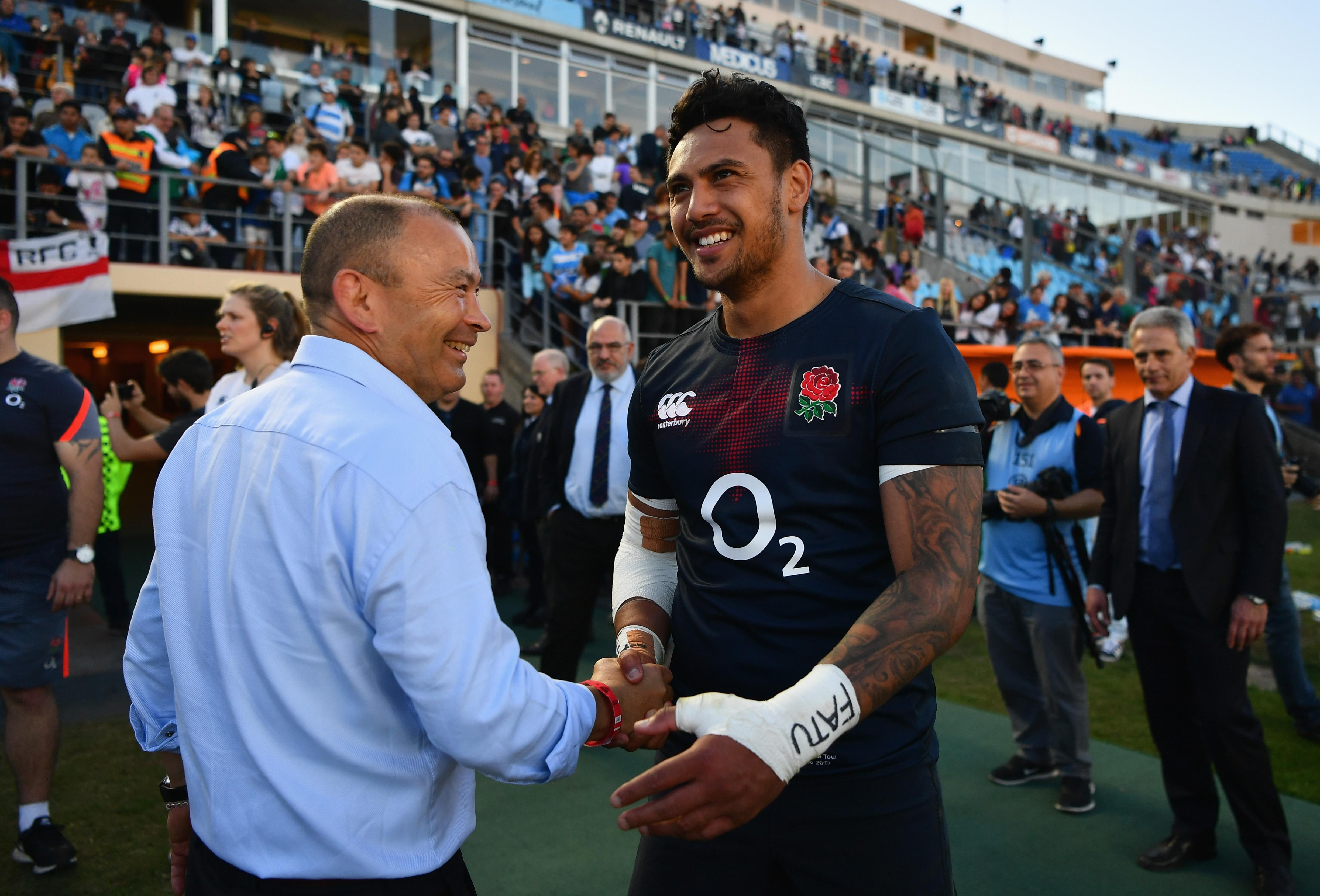 Eddie Jones is likely to take a dim view of the incident, with Denny Solomona already on thin ice