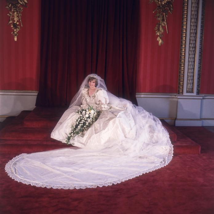 She designed Princess Diana's iconic wedding dress
