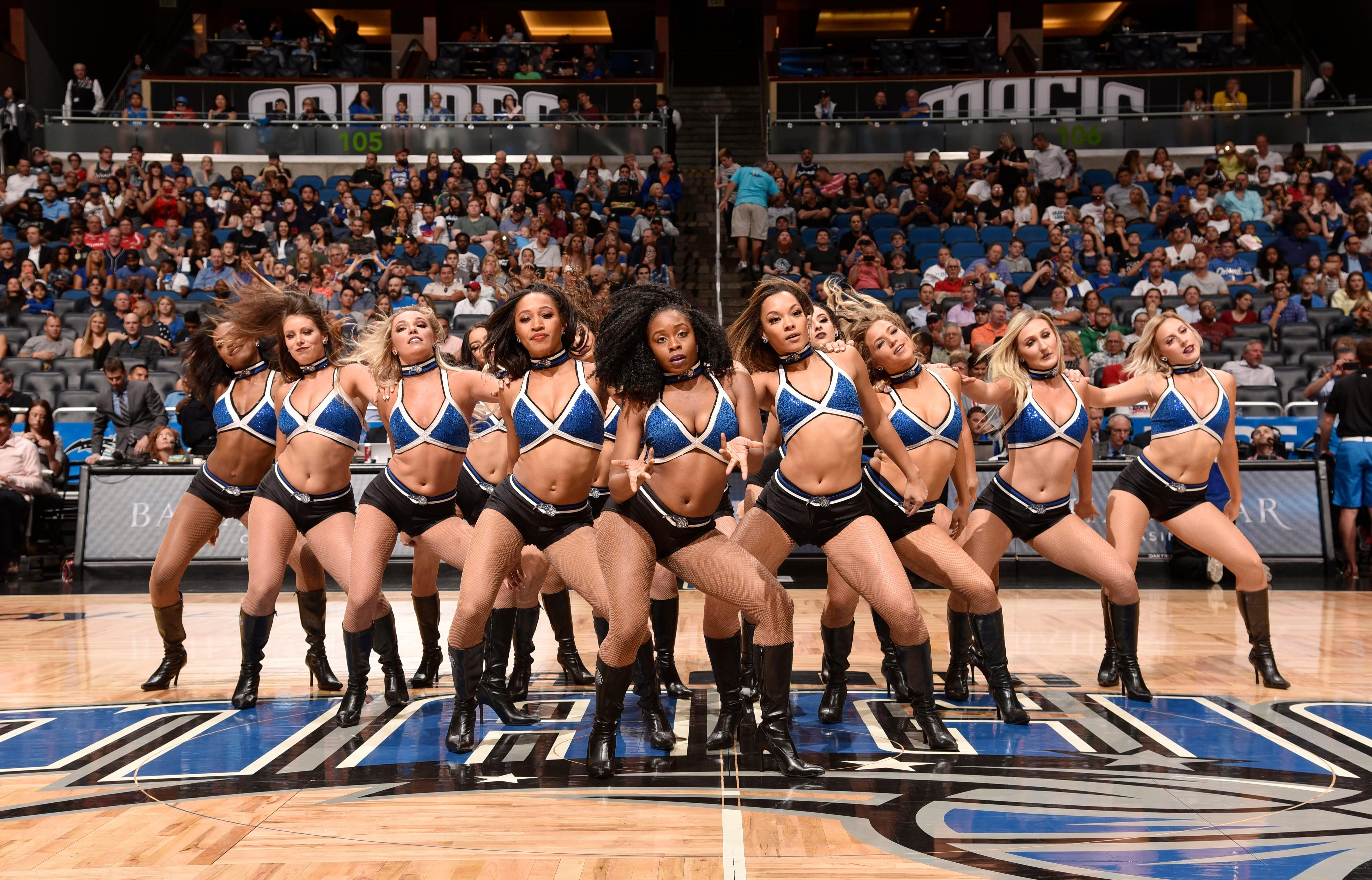 Cheerleaders from the NBA and NFL have insisted they are subject to sexual harassment from supporters regularly