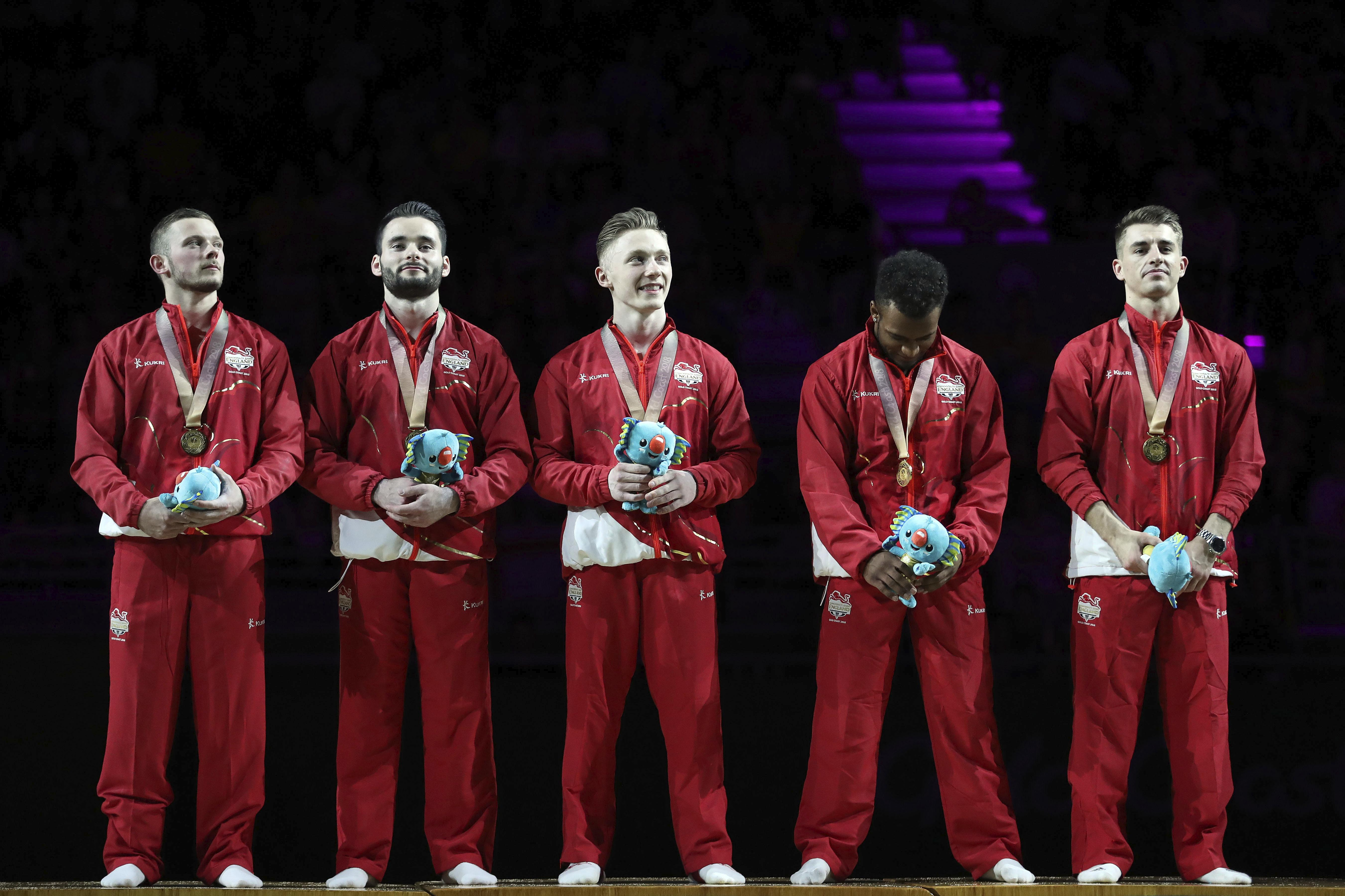 England won the men's team event in the gymnastics