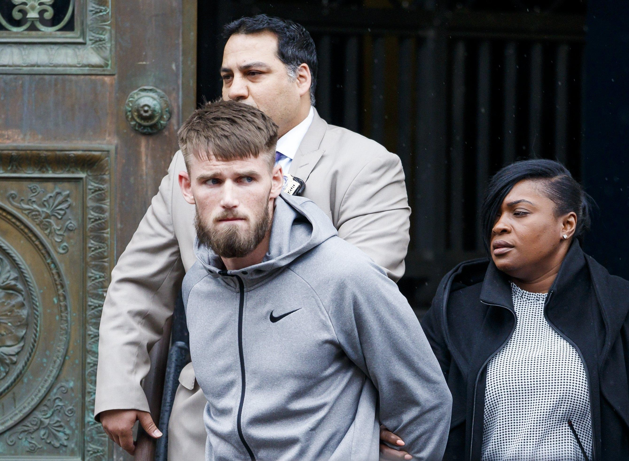 McGregor's teammate Cian Cowley was also seen being taken from the police station