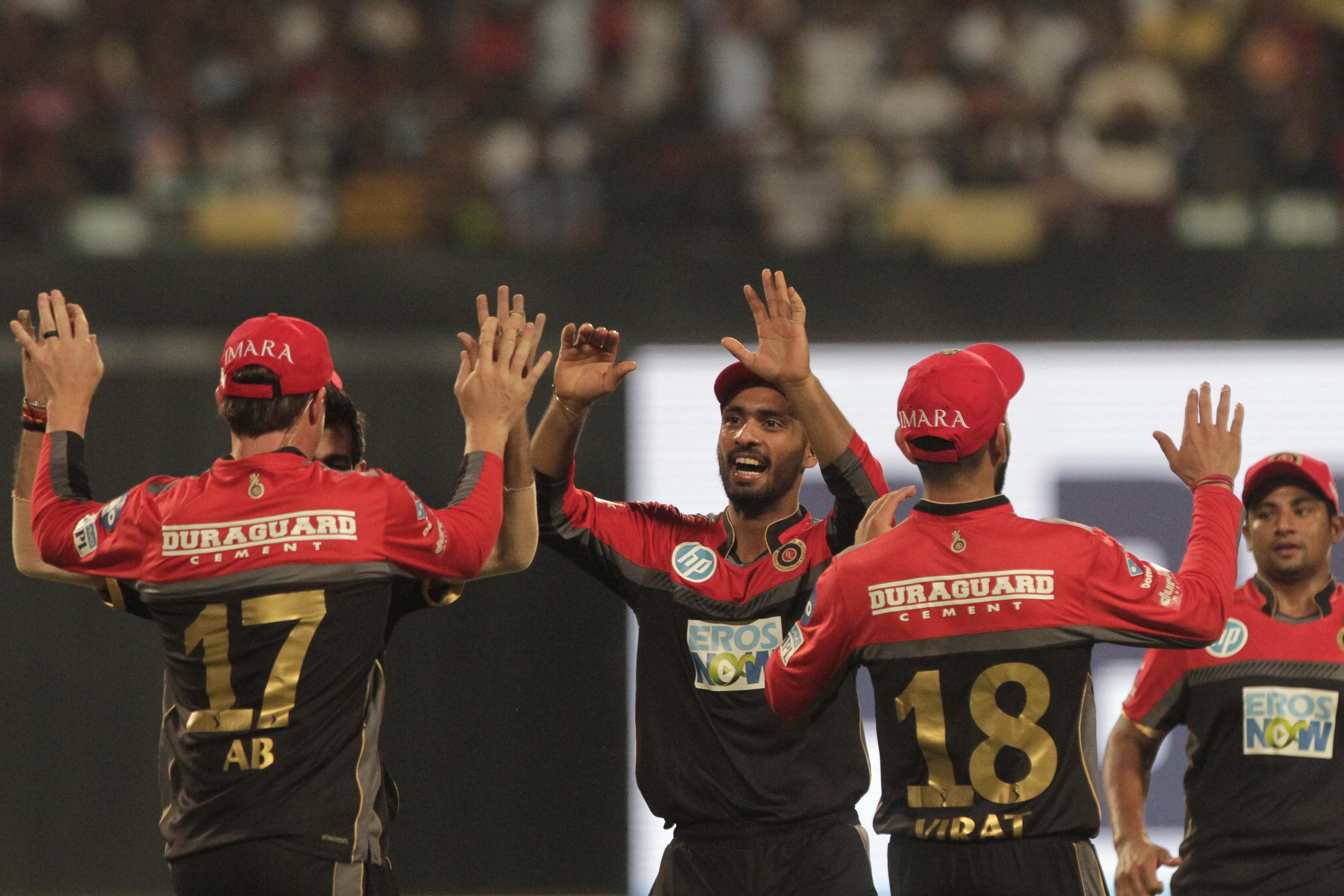 Royal Challengers Bangalore celebrated a home win against Kings XI Punjab on Friday