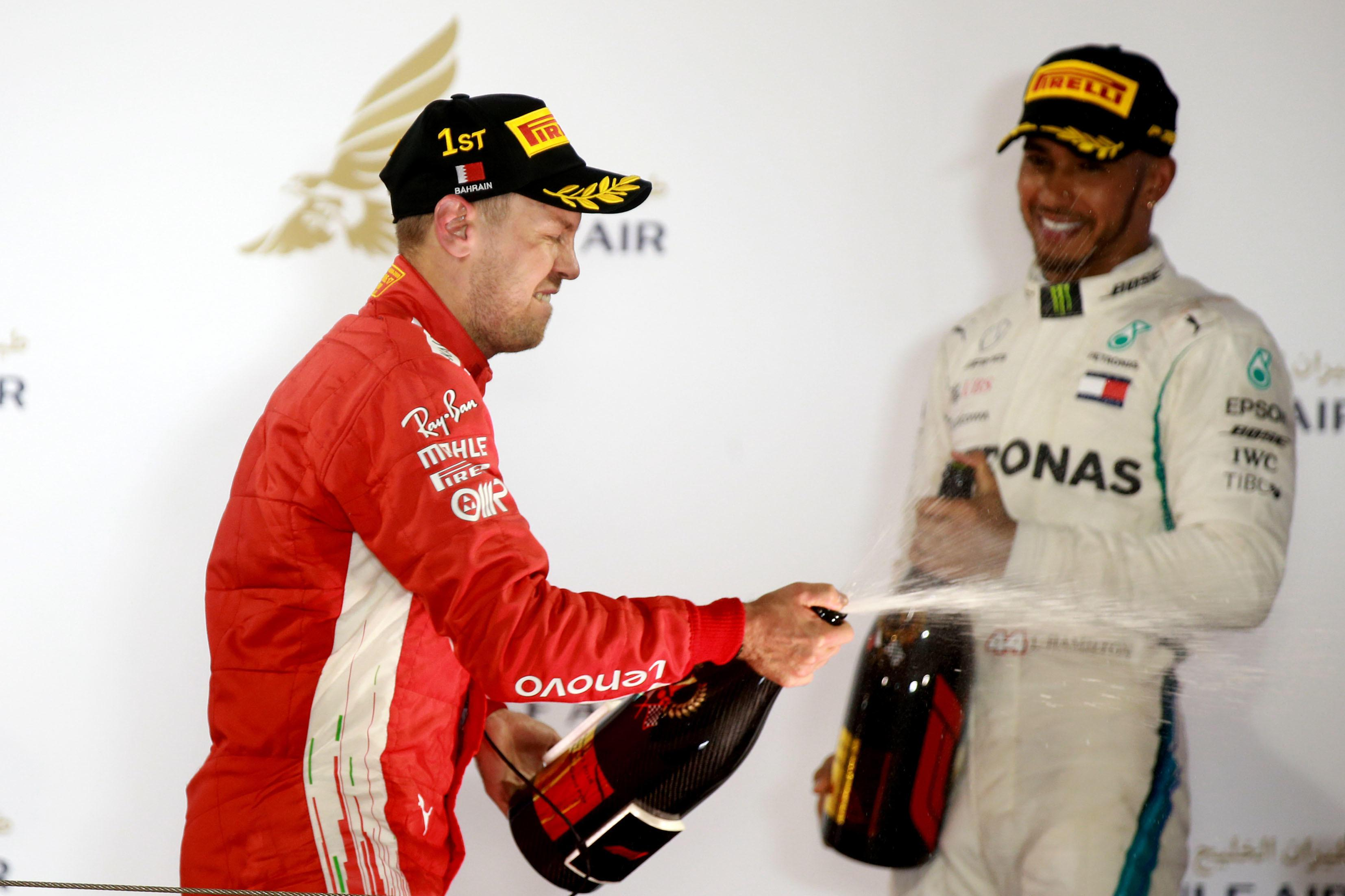 Sebastian Vettel is already 17 points ahead of Lewis Hamilton