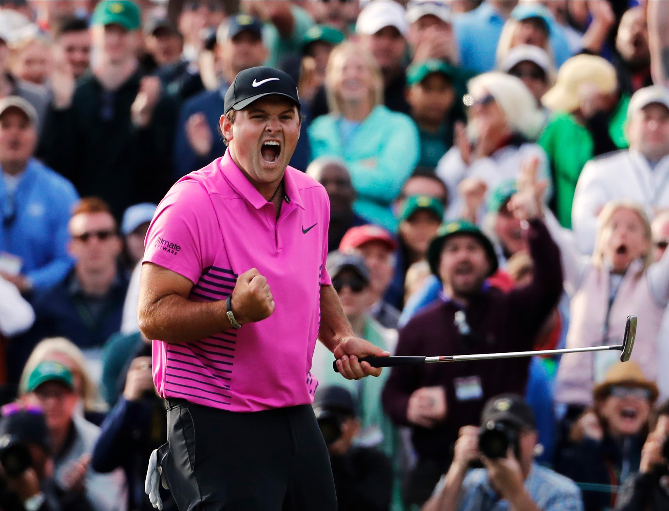 Patrick Reed celebrates winning the Masters